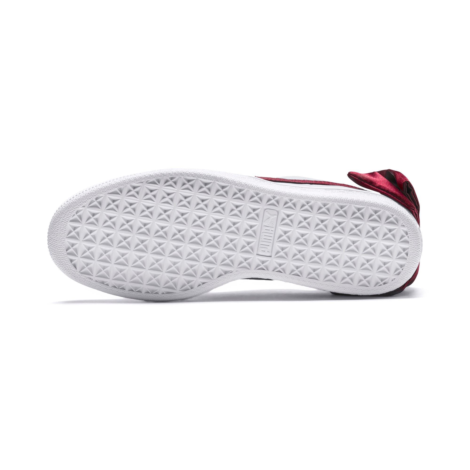 Thumbnail 3 of Basket Bow New School Women's Sneakers, P.White-CERULEAN-Pomegranate, medium