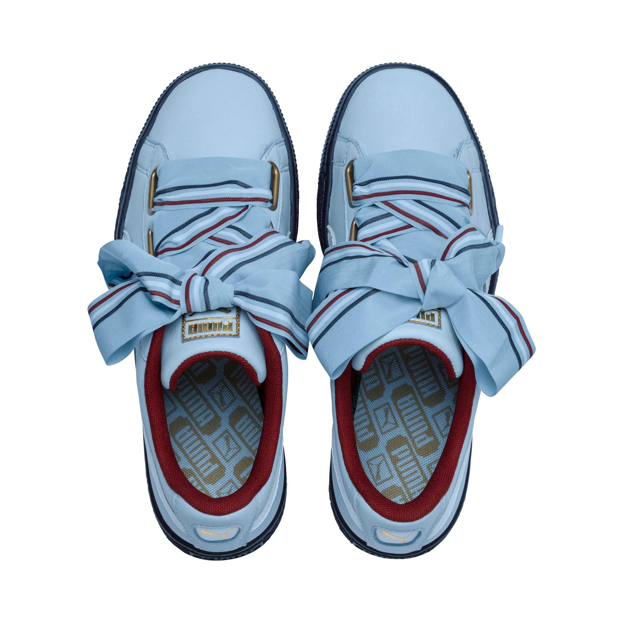 Thumbnail 6 of Basket Heart New School Women's Sneakers, CERULEAN-CERULEAN, medium