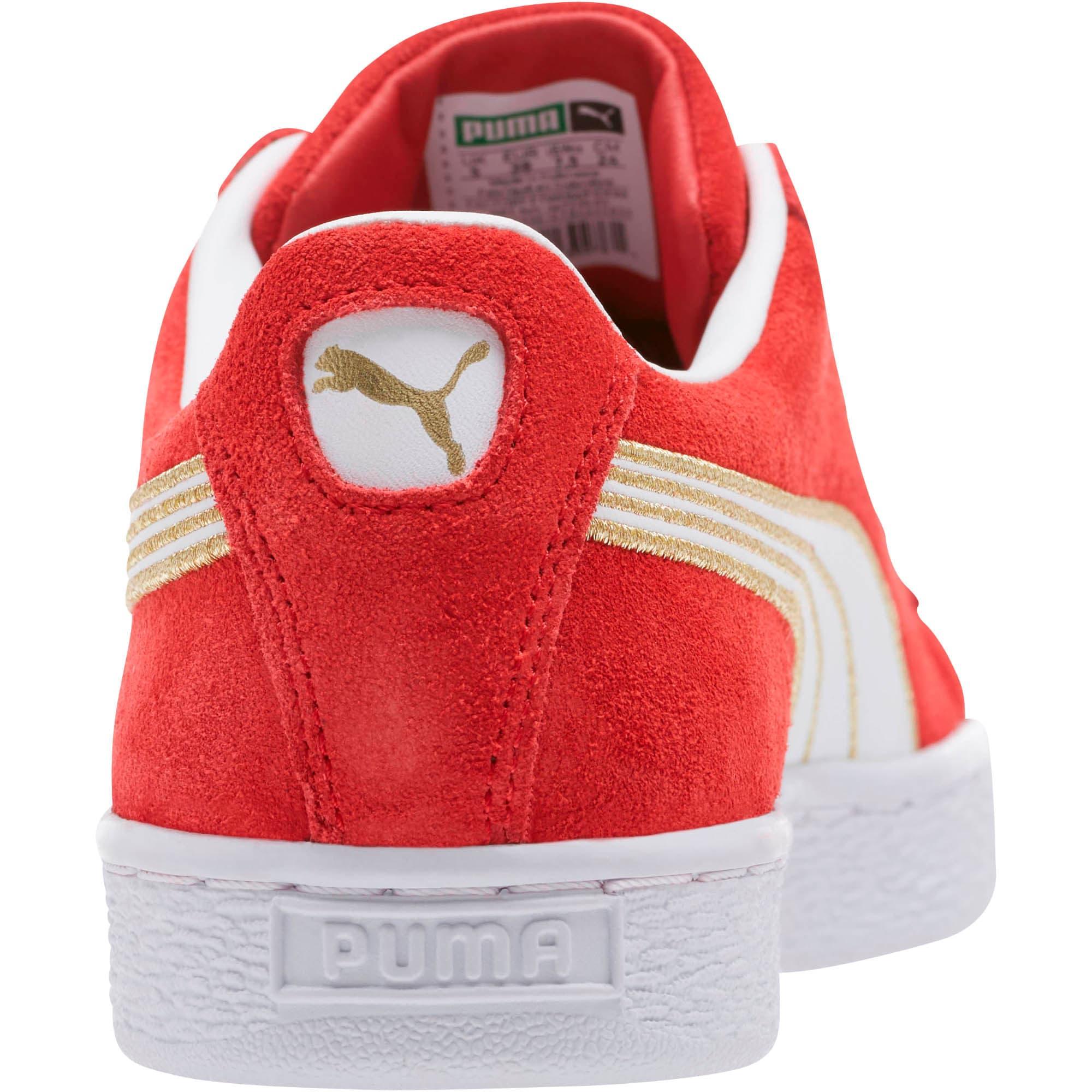 Thumbnail 4 of Suede Varsity Women's Sneakers, Ribbon Red-Puma White, medium
