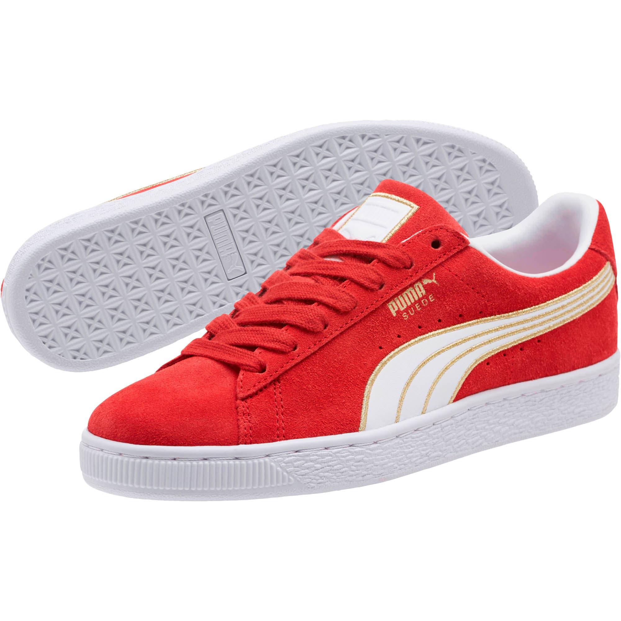 Thumbnail 2 of Suede Varsity Women's Sneakers, Ribbon Red-Puma White, medium
