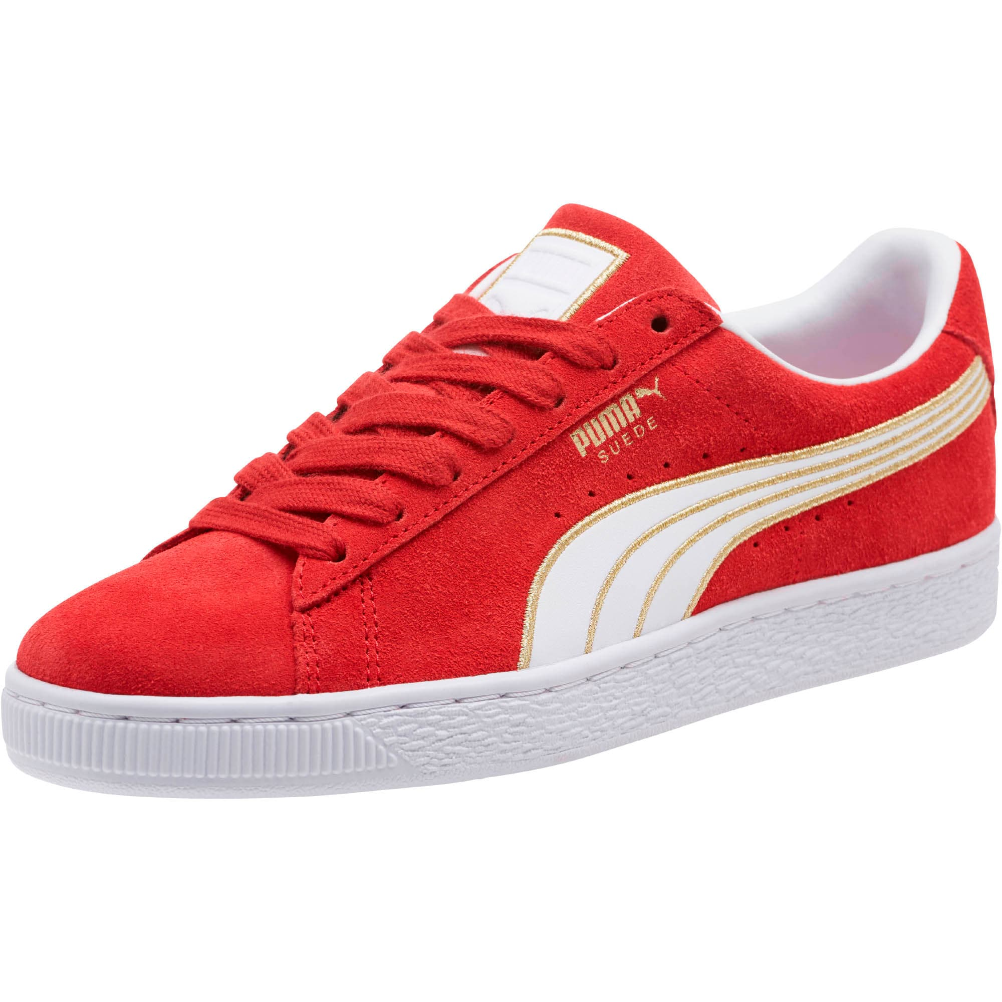 Thumbnail 1 of Suede Varsity Women's Sneakers, Ribbon Red-Puma White, medium