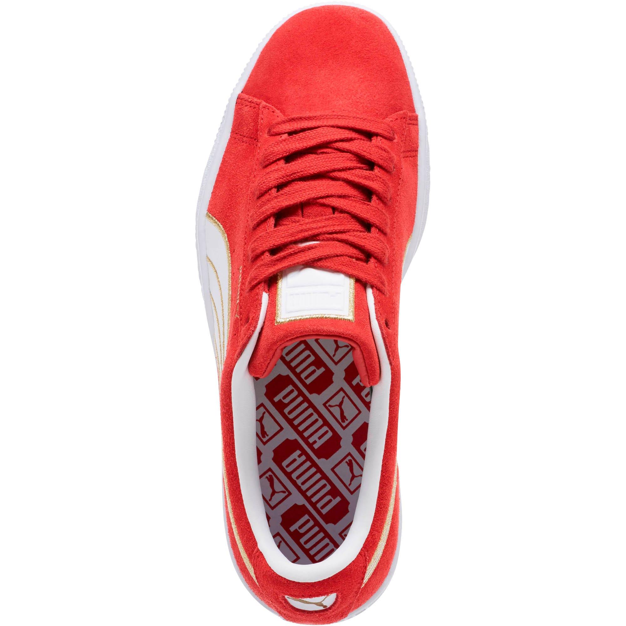 Thumbnail 5 of Suede Varsity Women's Sneakers, Ribbon Red-Puma White, medium