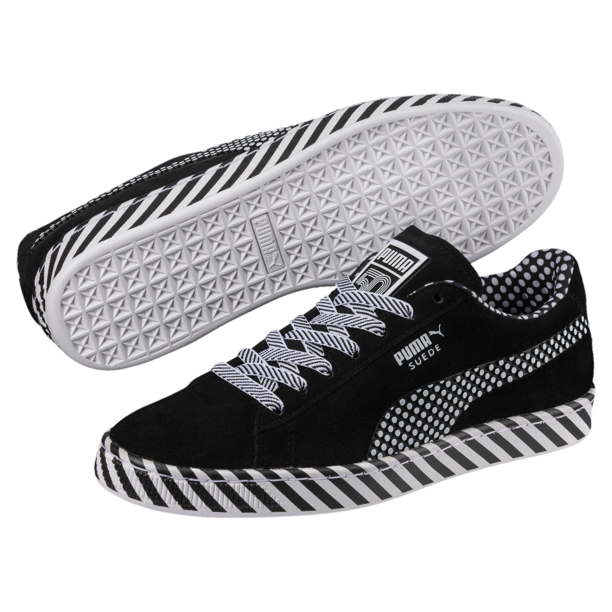 Thumbnail 2 of Suede Classic Pop Culture Sneakers, Puma Black-Puma White, medium