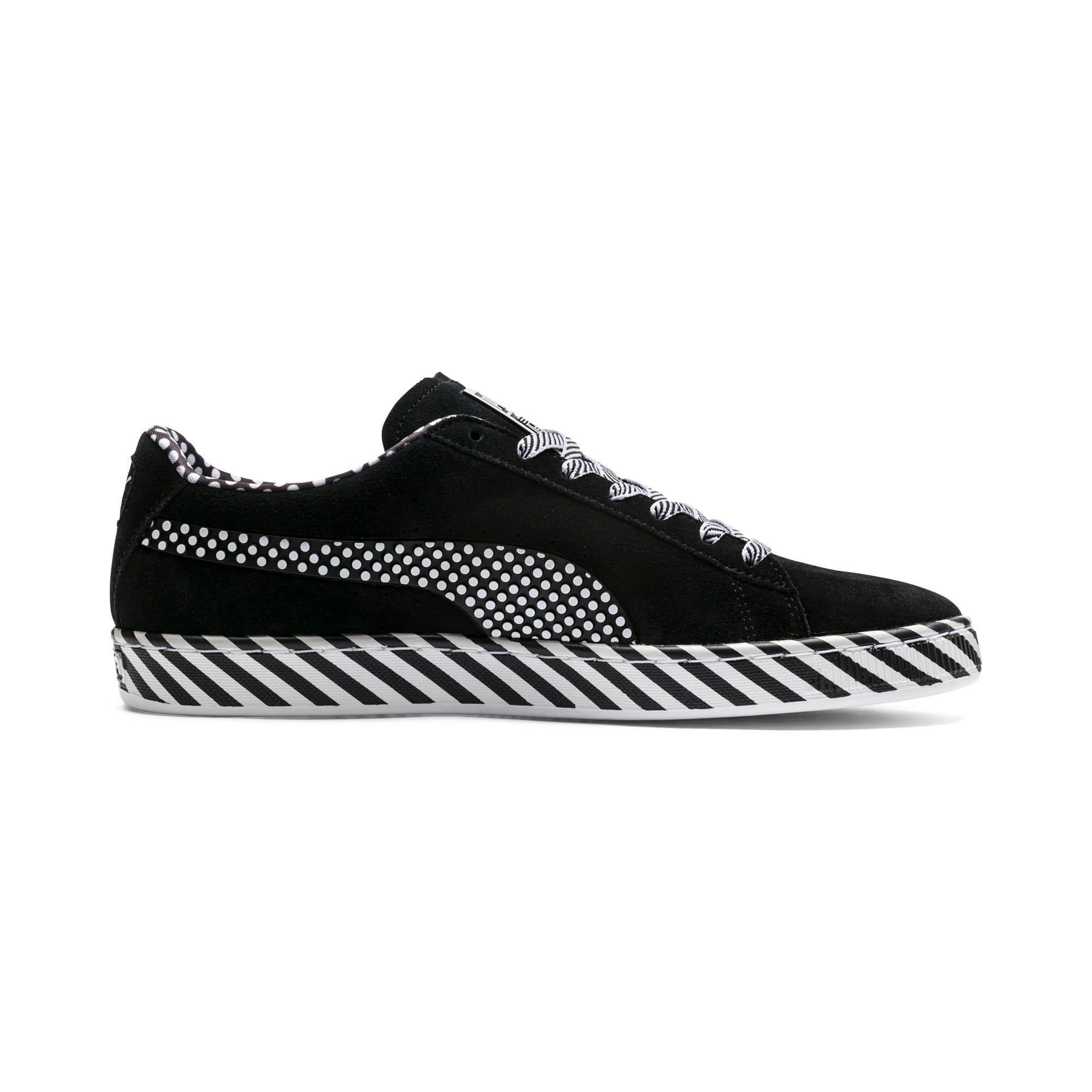 Thumbnail 5 of Suede Classic Pop Culture Sneakers, Puma Black-Puma White, medium