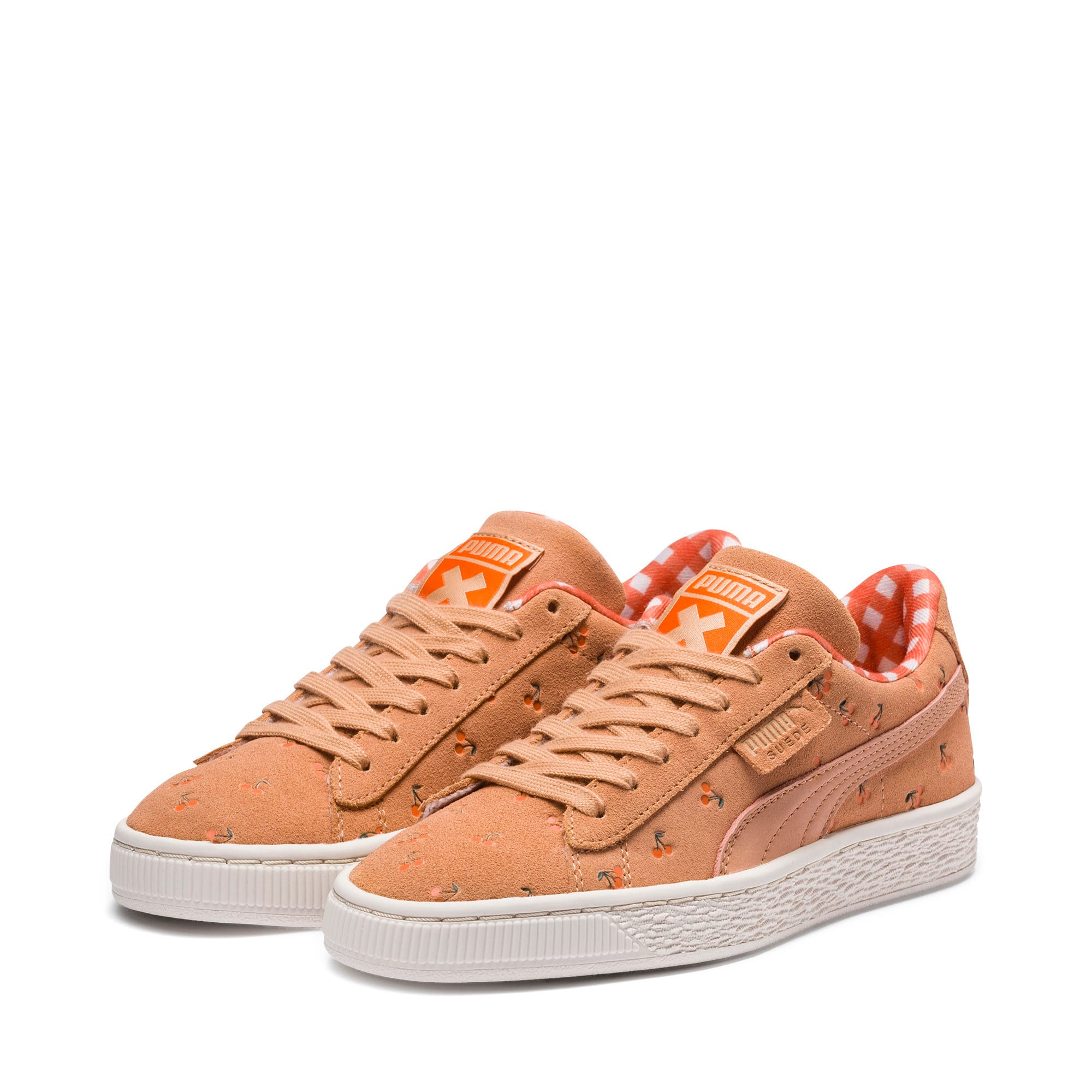 PUMA X TINYCOTTONS Suede JR, Toast-Mandarin Orange-Thyme, large
