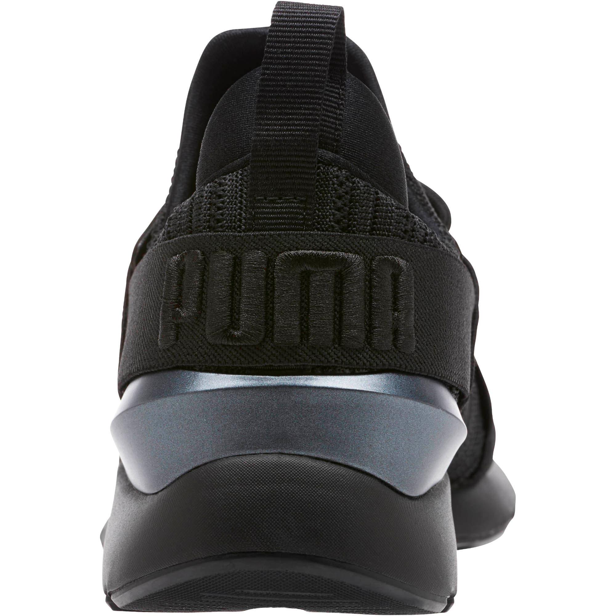 Thumbnail 4 of Muse Knit Women's Sneakers, Iron Gate-Puma Black, medium