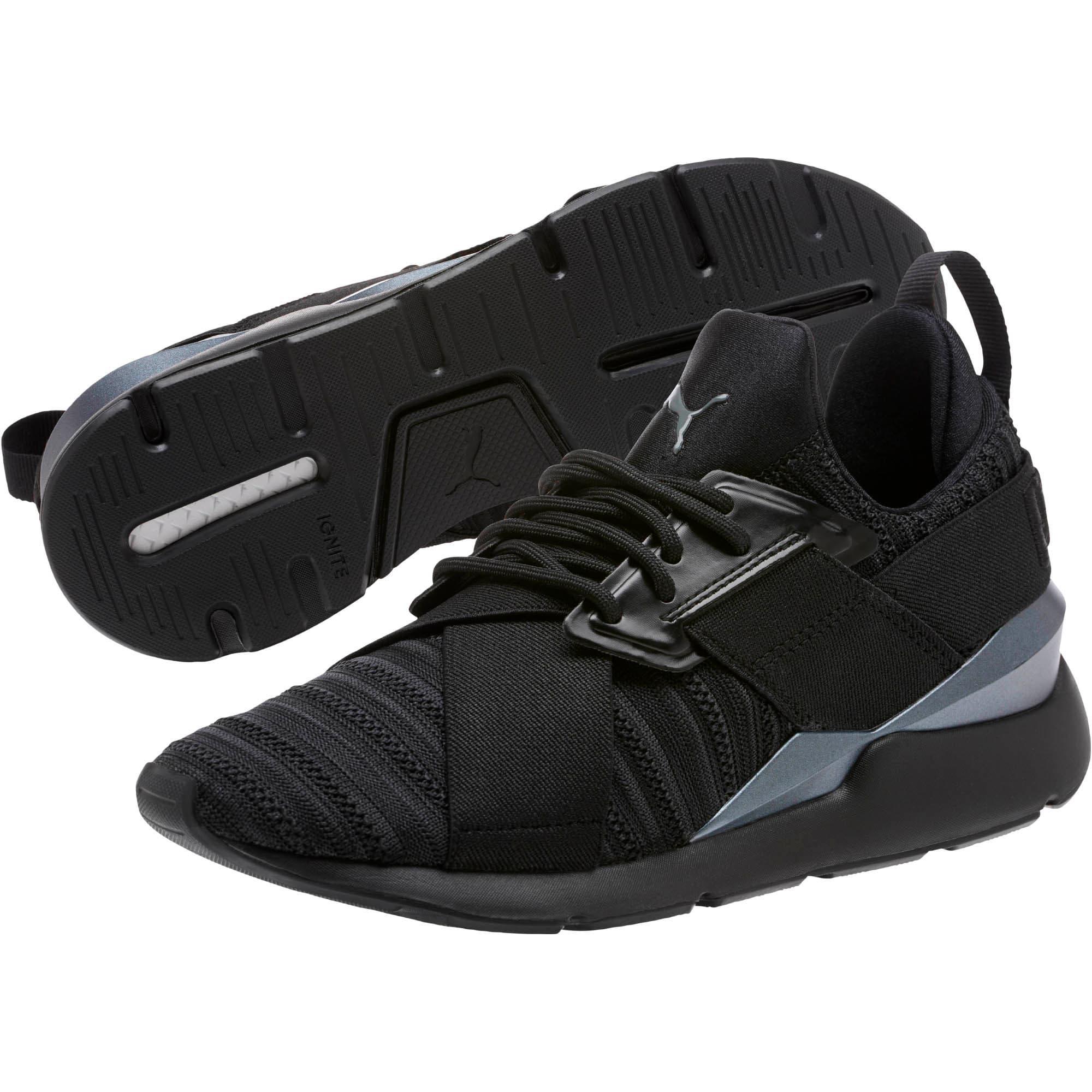 Thumbnail 2 of Muse Knit Women's Sneakers, Iron Gate-Puma Black, medium