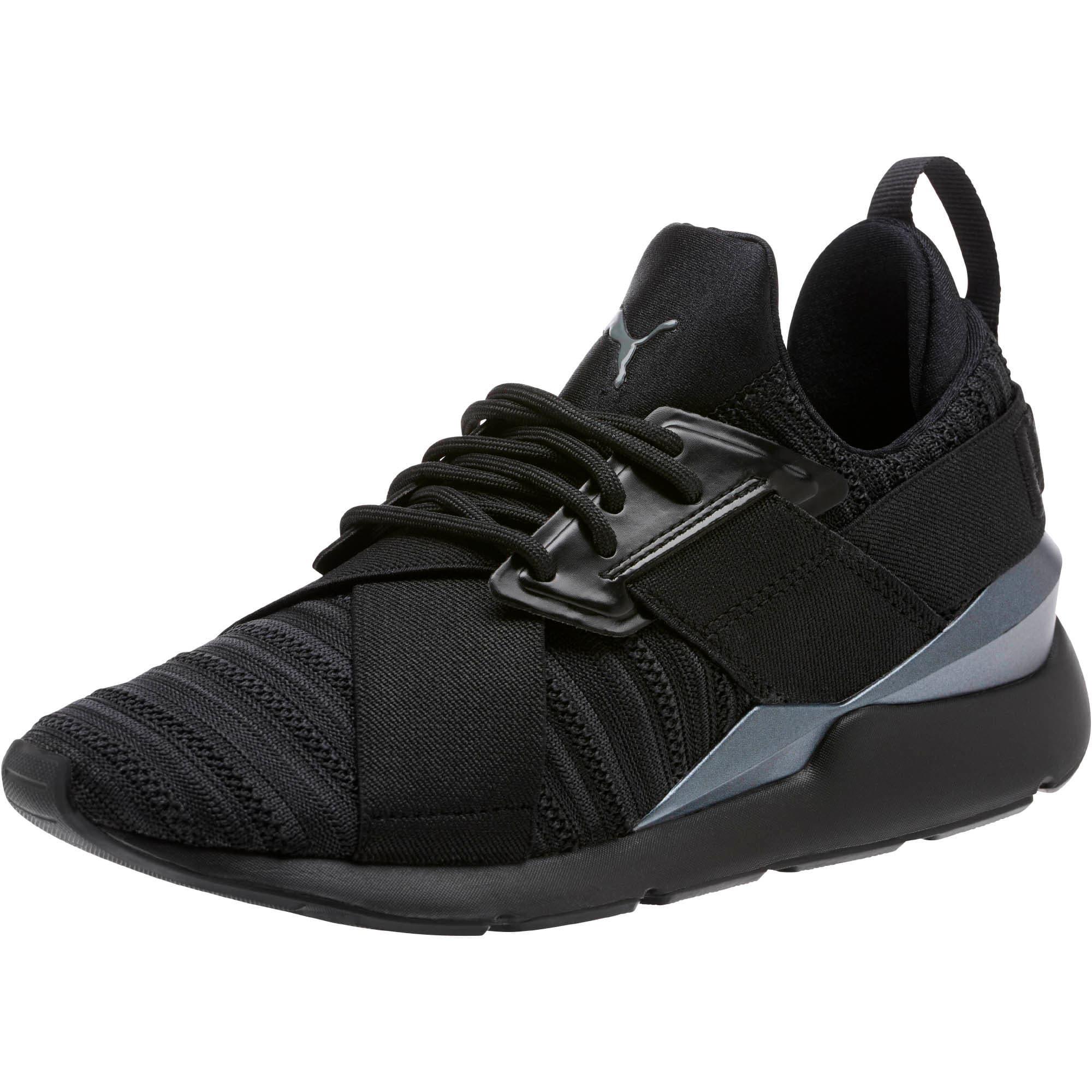 Thumbnail 1 of Muse Knit Women's Sneakers, Iron Gate-Puma Black, medium