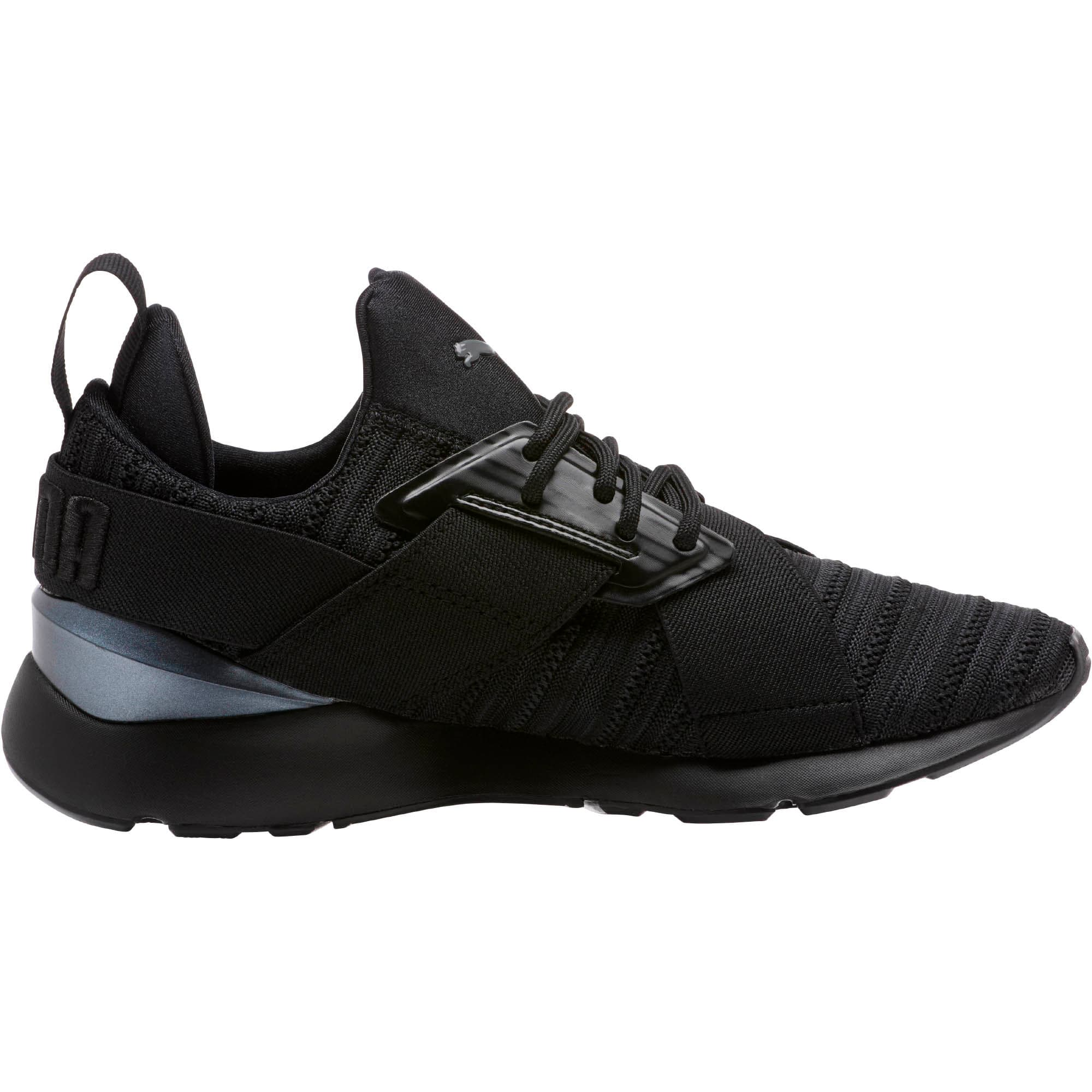 Thumbnail 3 of Muse Knit Women's Sneakers, Iron Gate-Puma Black, medium
