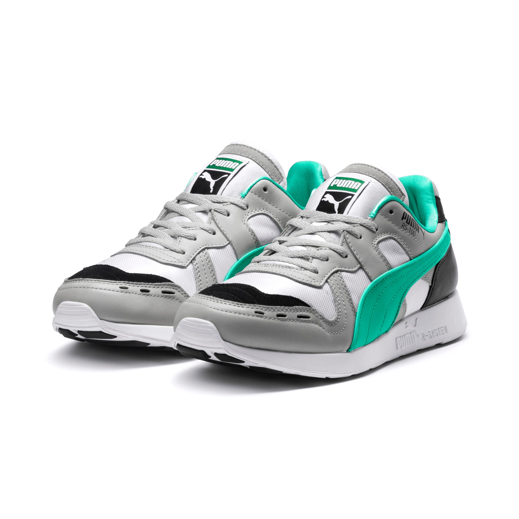 Thumbnail 2 of RS-100 Re-Invention Sneakers, GrayViolet-BiscayGreen-White, medium