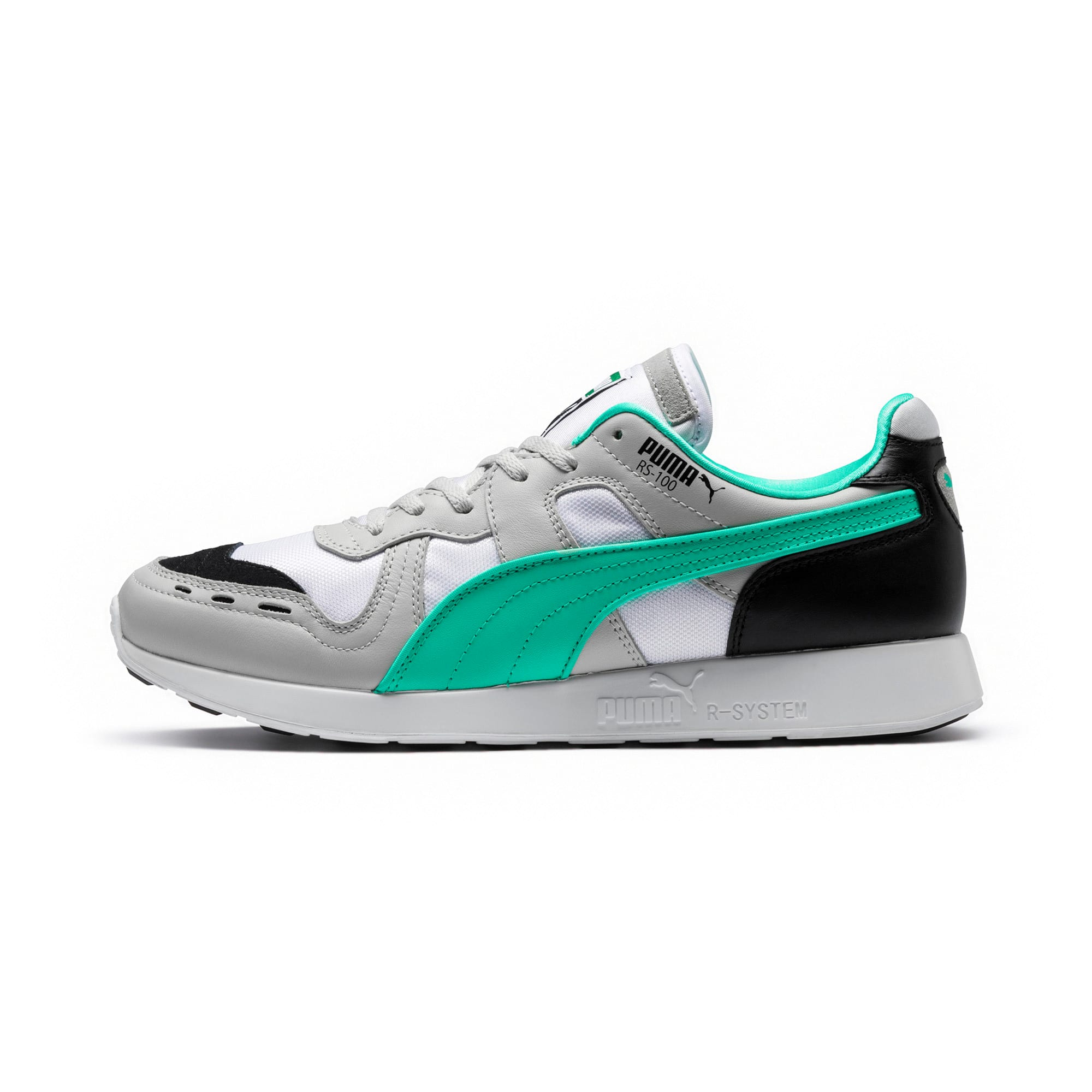 Thumbnail 1 of RS-100 Re-Invention Sneakers, GrayViolet-BiscayGreen-White, medium