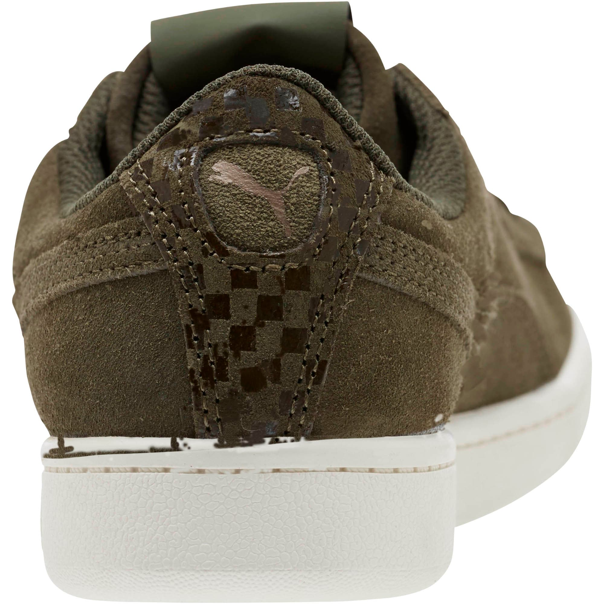 Thumbnail 4 of PUMA Vikky All-Over Suede Women's Sneakers, Forest Night-Metallic Bronze, medium