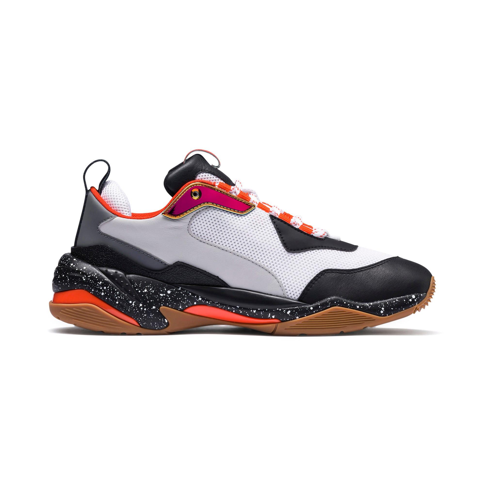 Thumbnail 5 of Thunder Electric Sneakers, White-Black-Mandarine Red, medium