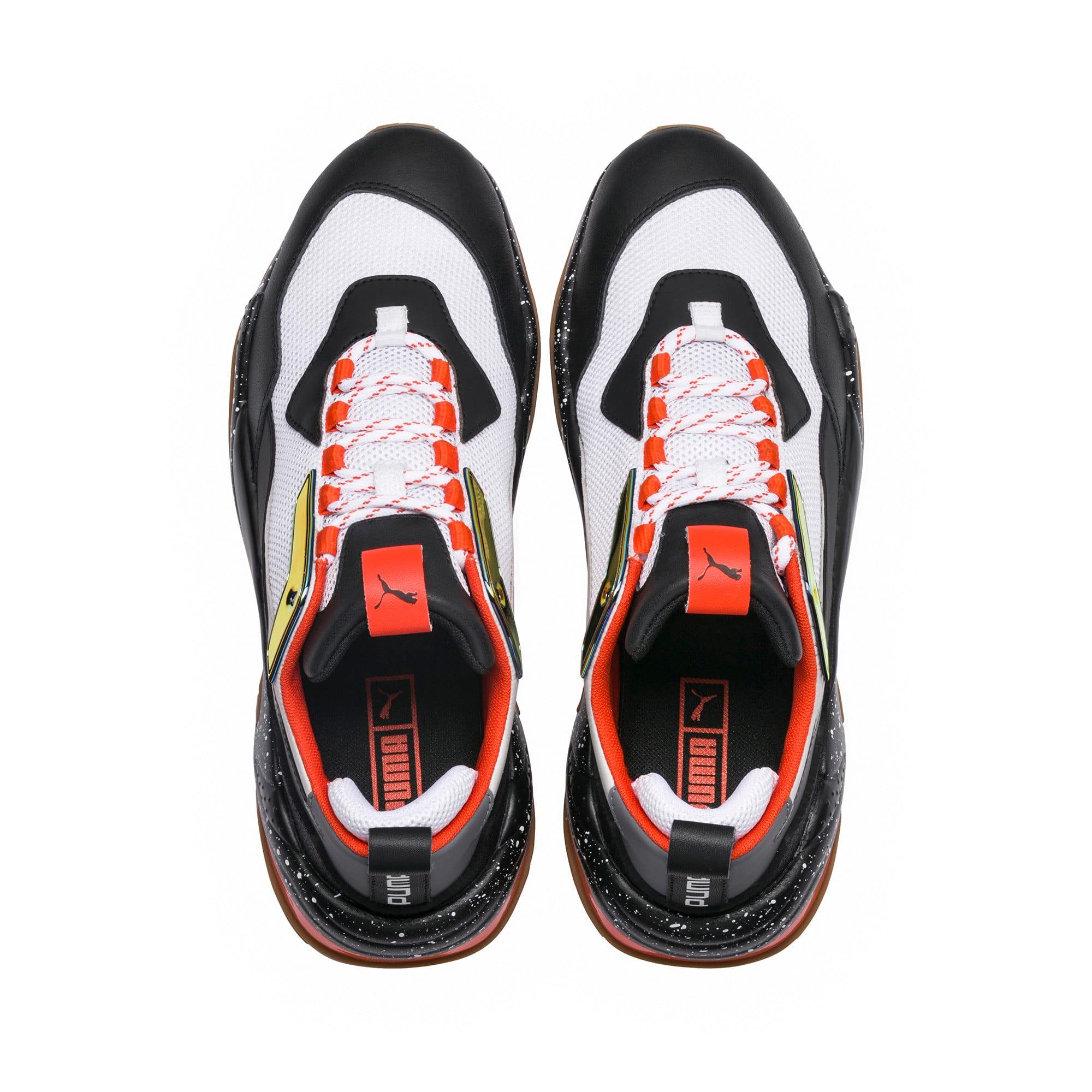 Thumbnail 6 of Thunder Electric Sneakers, White-Black-Mandarine Red, medium