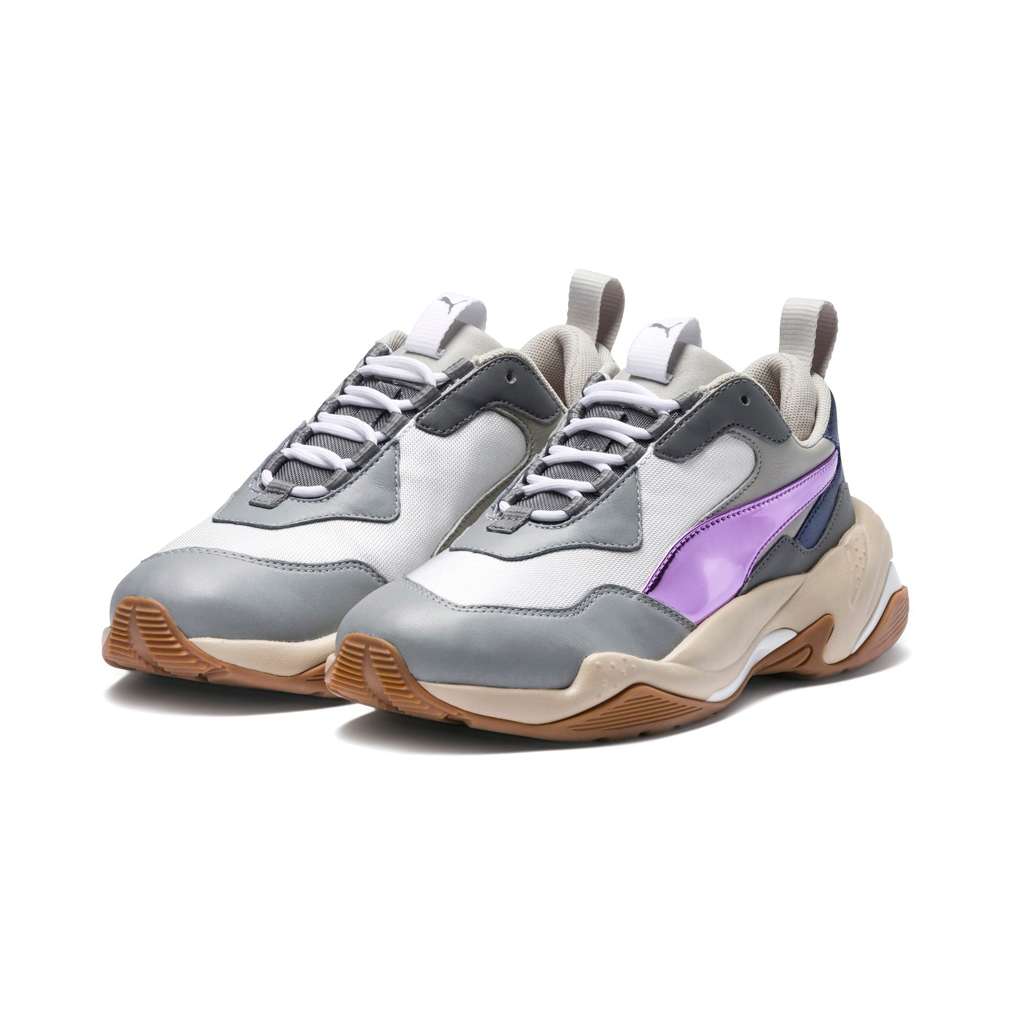 Thumbnail 2 of Thunder Electric Women's Sneakers, White-Pink Lavender-Cement, medium