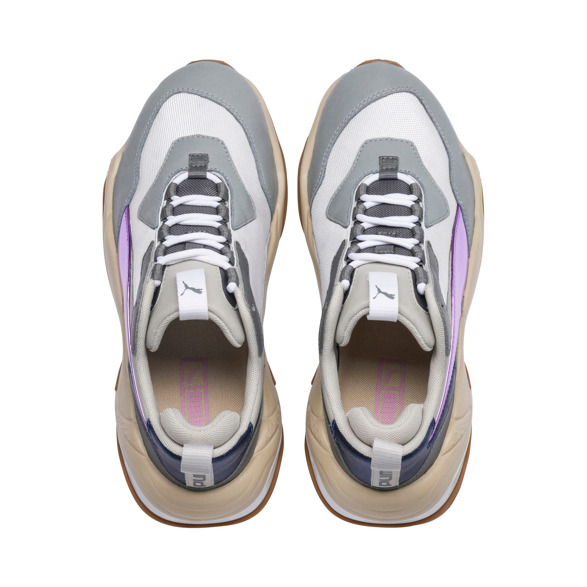 Thumbnail 7 of Thunder Electric Women's Sneakers, White-Pink Lavender-Cement, medium