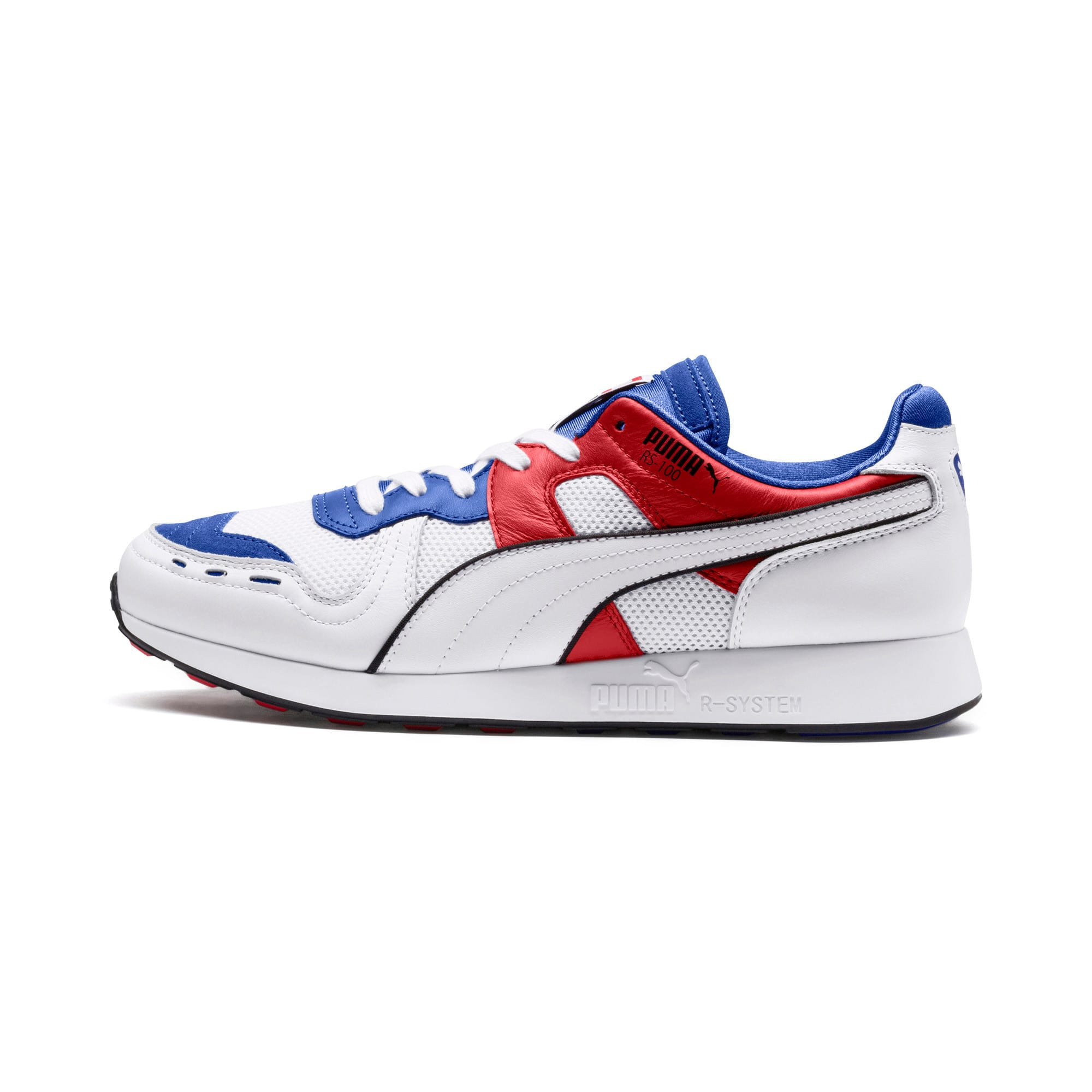 Thumbnail 1 of RS-100 Sound Men's Sneakers, Dazzlin Blu-HghRiskRed-White, medium