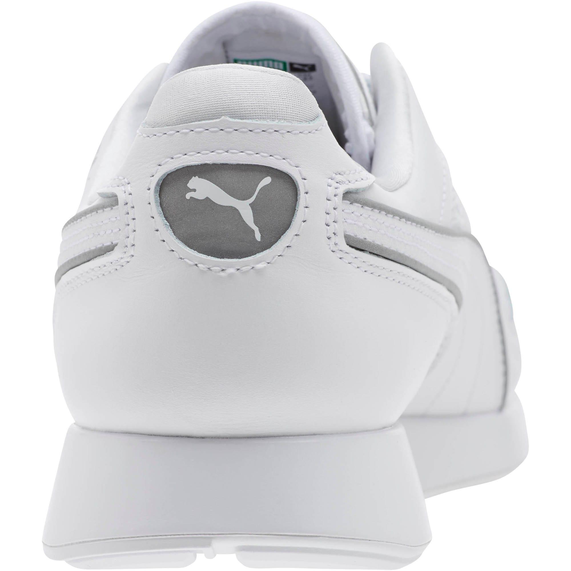 Thumbnail 4 of RS-100 Optic Men's Sneakers, P White-P Silver-Puma White, medium