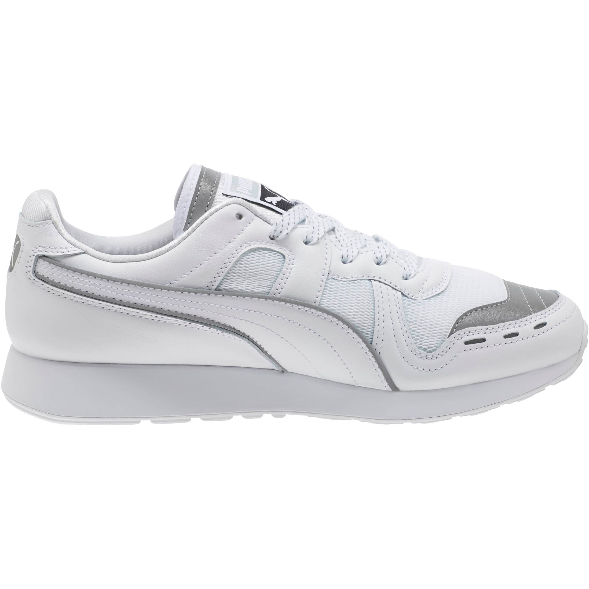 Thumbnail 3 of RS-100 Optic Men's Sneakers, P White-P Silver-Puma White, medium