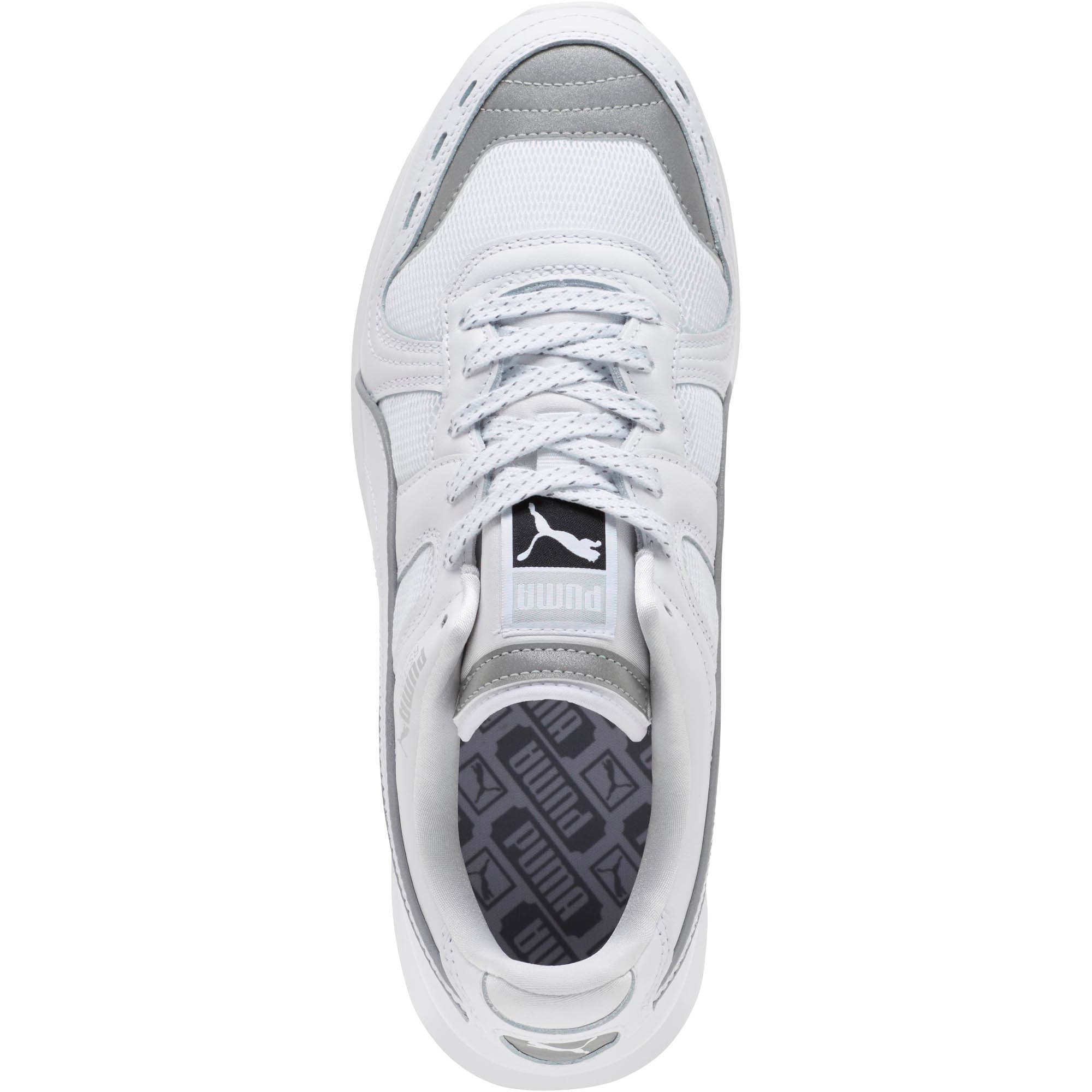 Thumbnail 5 of RS-100 Optic Men's Sneakers, P White-P Silver-Puma White, medium