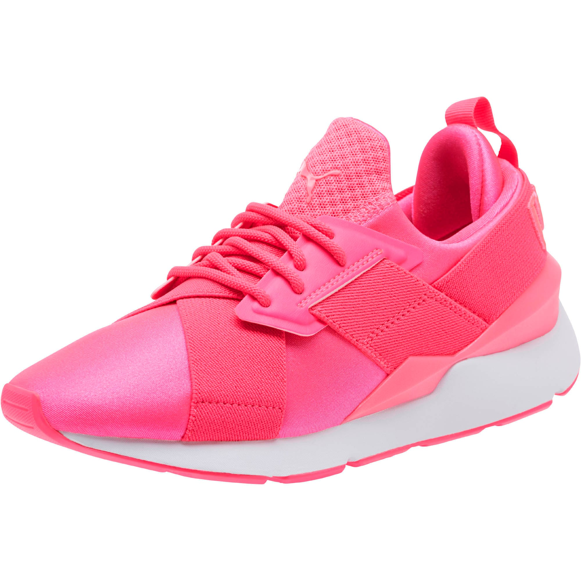 Thumbnail 1 of Muse Satin EP Pearl Women's Sneakers, KNOCKOUT PINK, medium