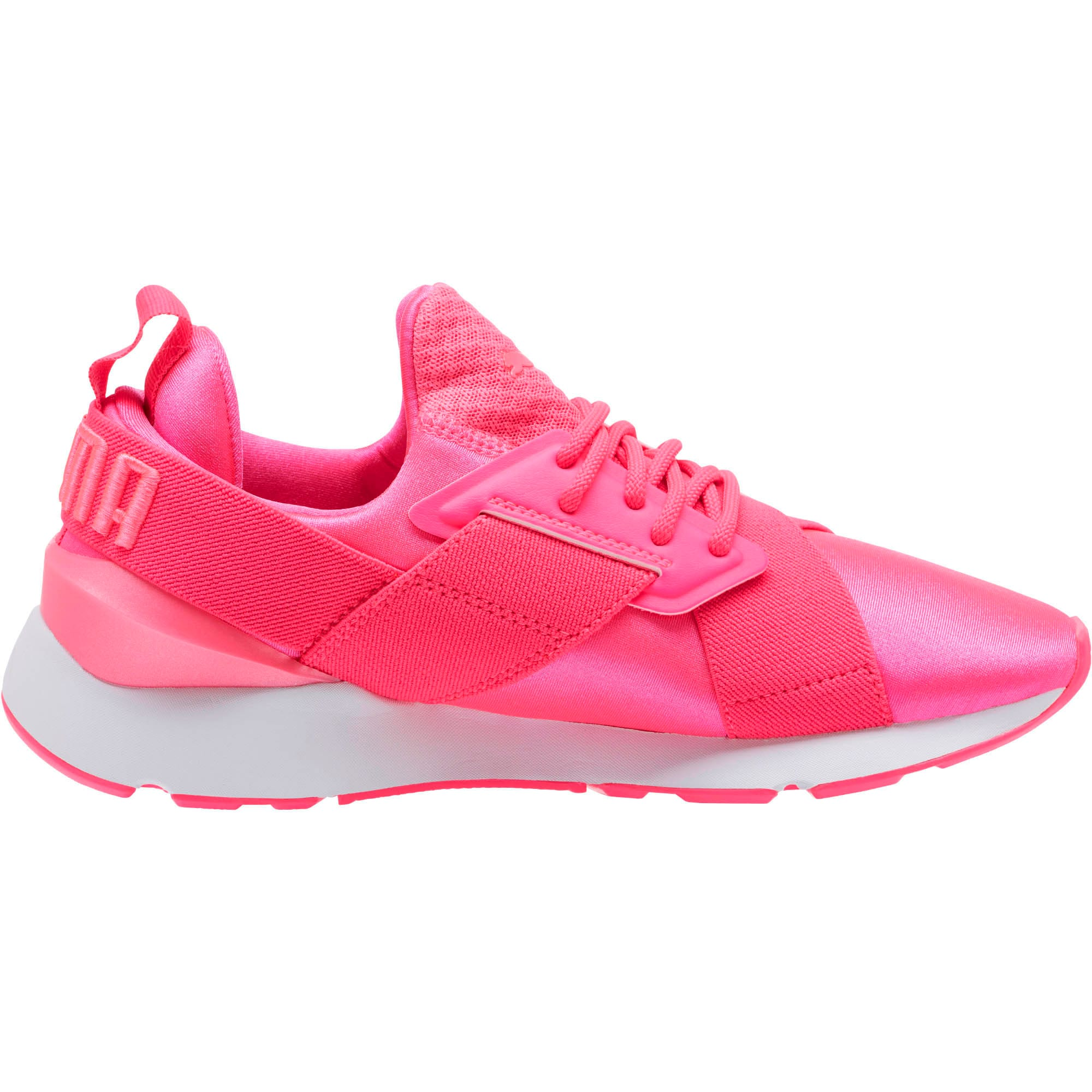 Thumbnail 3 of Muse Satin EP Pearl Women's Sneakers, KNOCKOUT PINK, medium