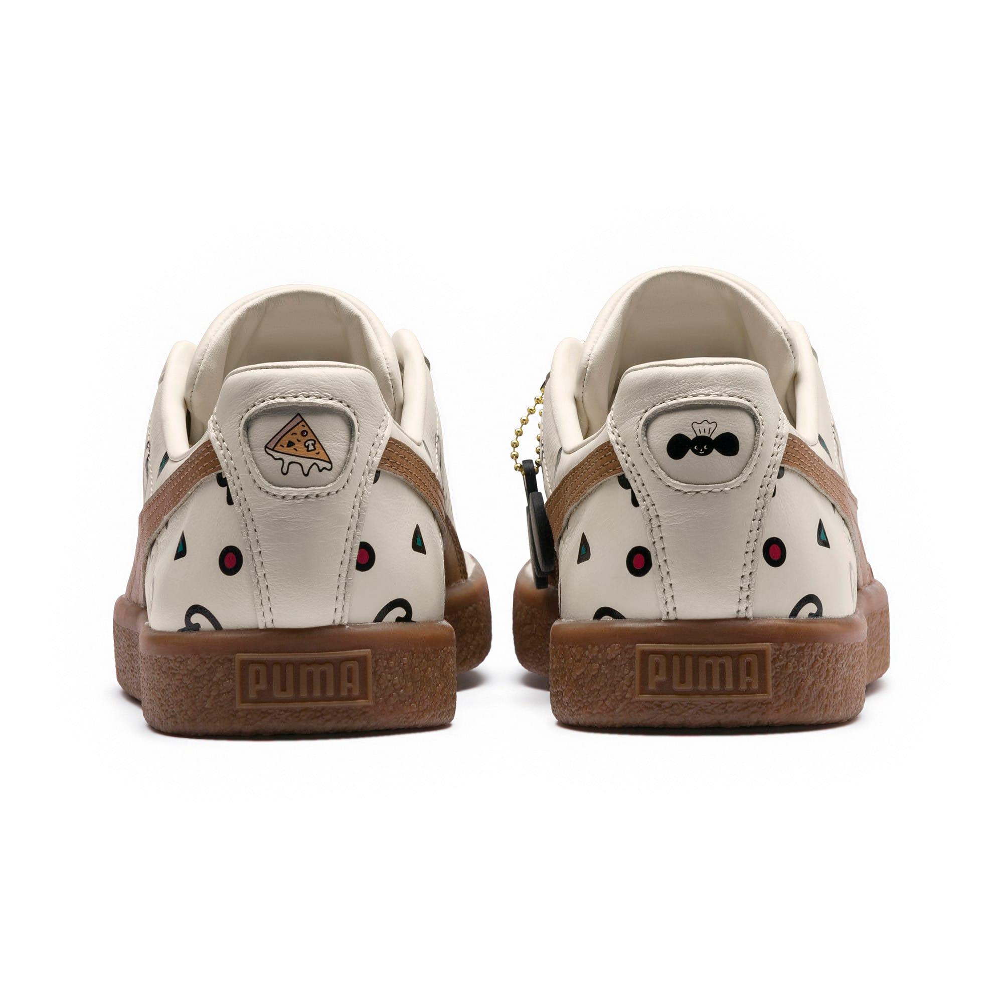 Thumbnail 4 of PUMA x TYAKASHA Clyde Graphic Sneakers, Birch, medium