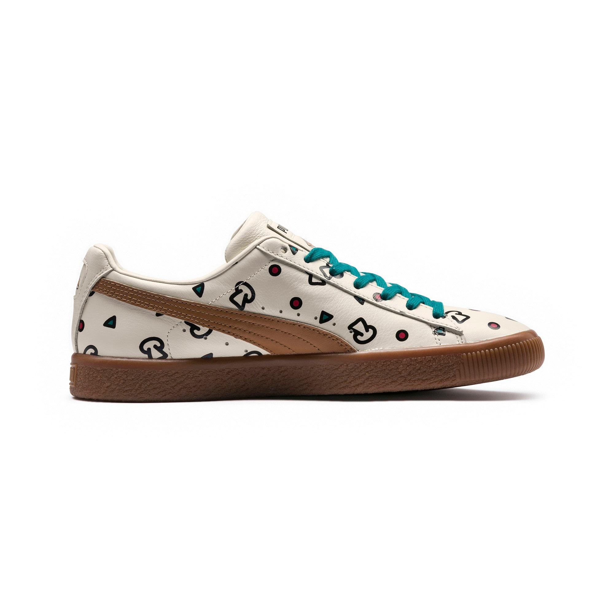 Thumbnail 5 of PUMA x TYAKASHA Clyde Graphic Sneakers, Birch, medium