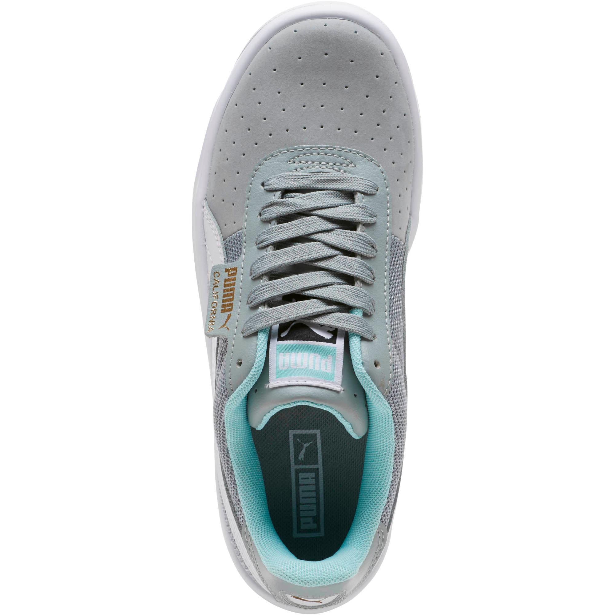 California Casual Sneakers JR, Quarry-Puma White- Gold, large