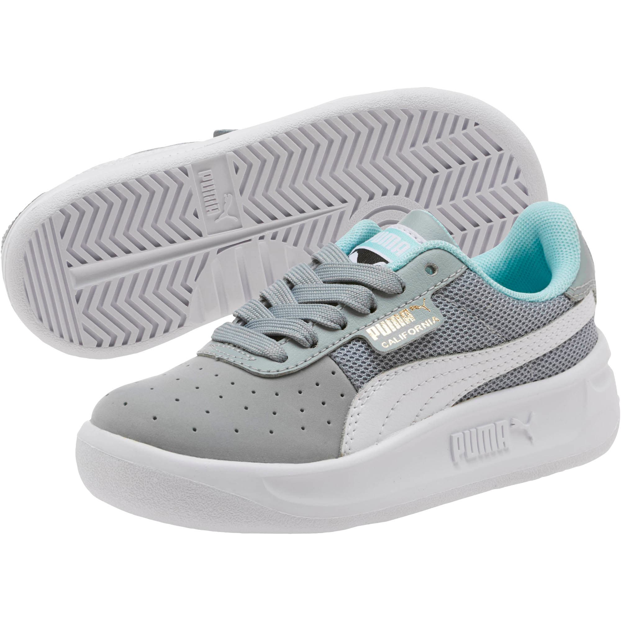Thumbnail 2 of California Casual Little Kids' Shoes, Quarry-Puma White- Gold, medium