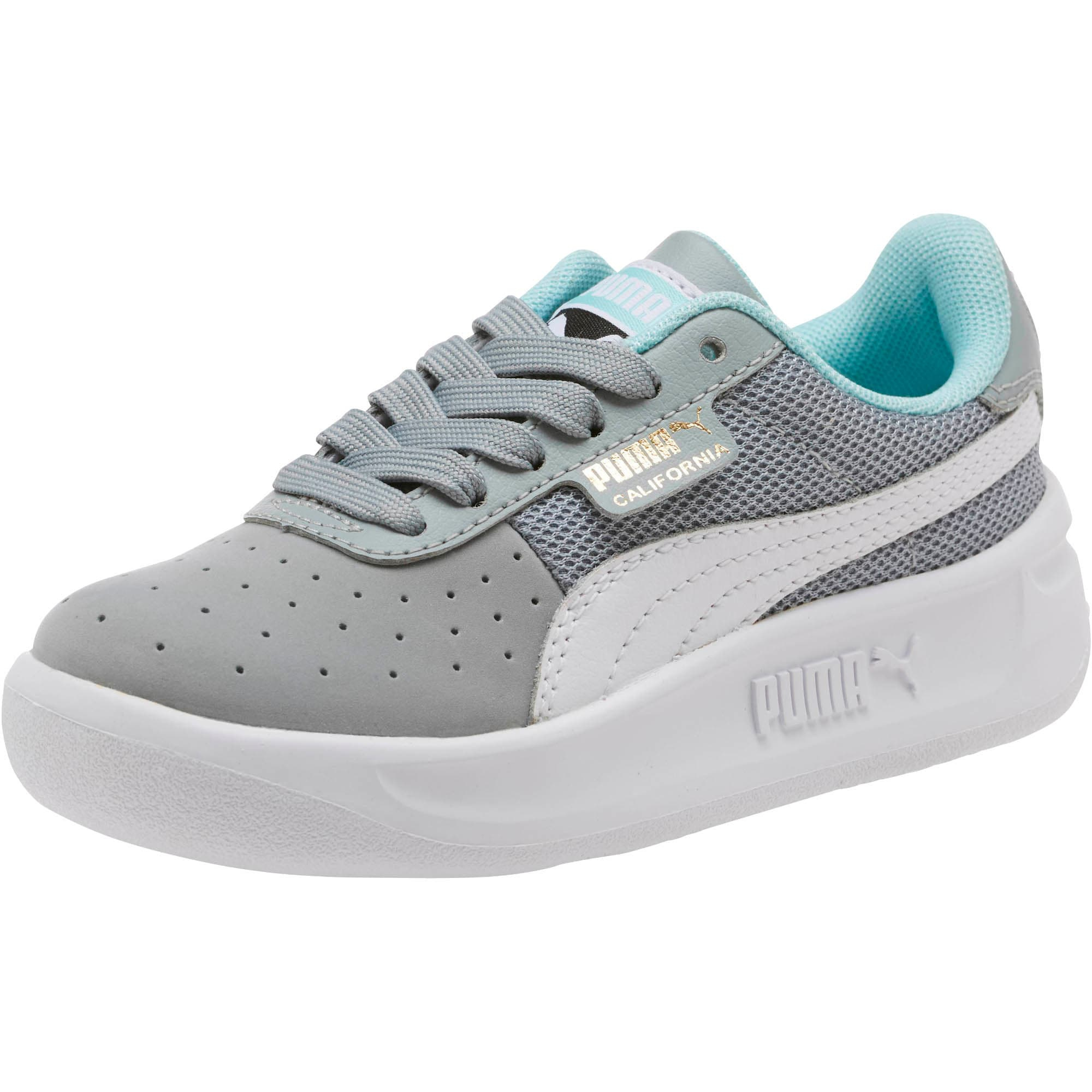 Thumbnail 1 of California Casual Little Kids' Shoes, Quarry-Puma White- Gold, medium