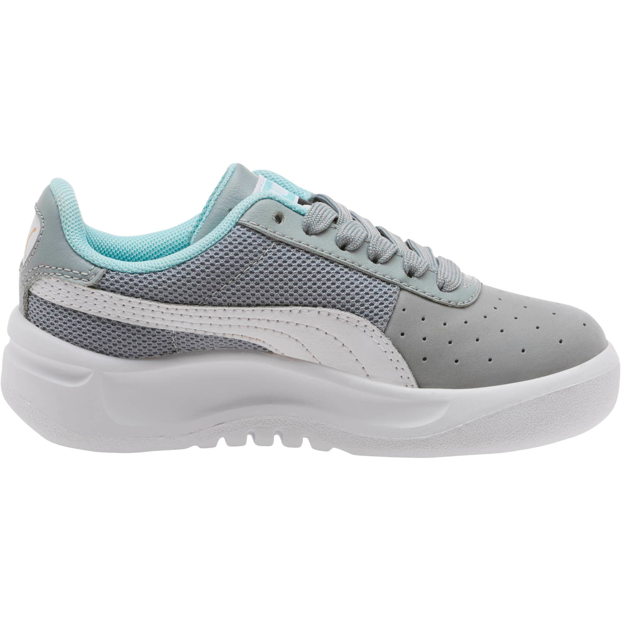 Thumbnail 3 of California Casual Little Kids' Shoes, Quarry-Puma White- Gold, medium