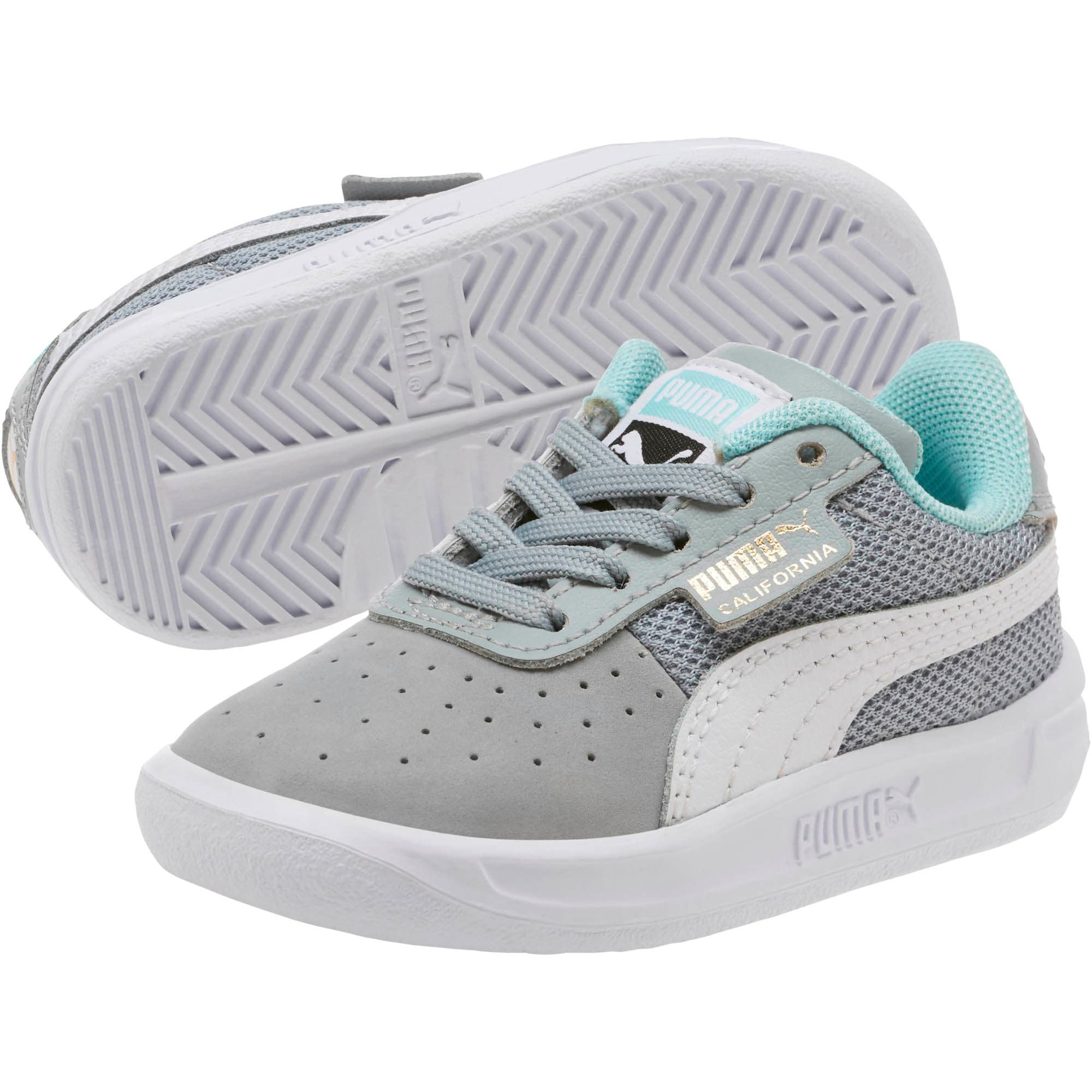 Thumbnail 2 of California Casual Toddler Shoes, Quarry-Puma White-Gold, medium