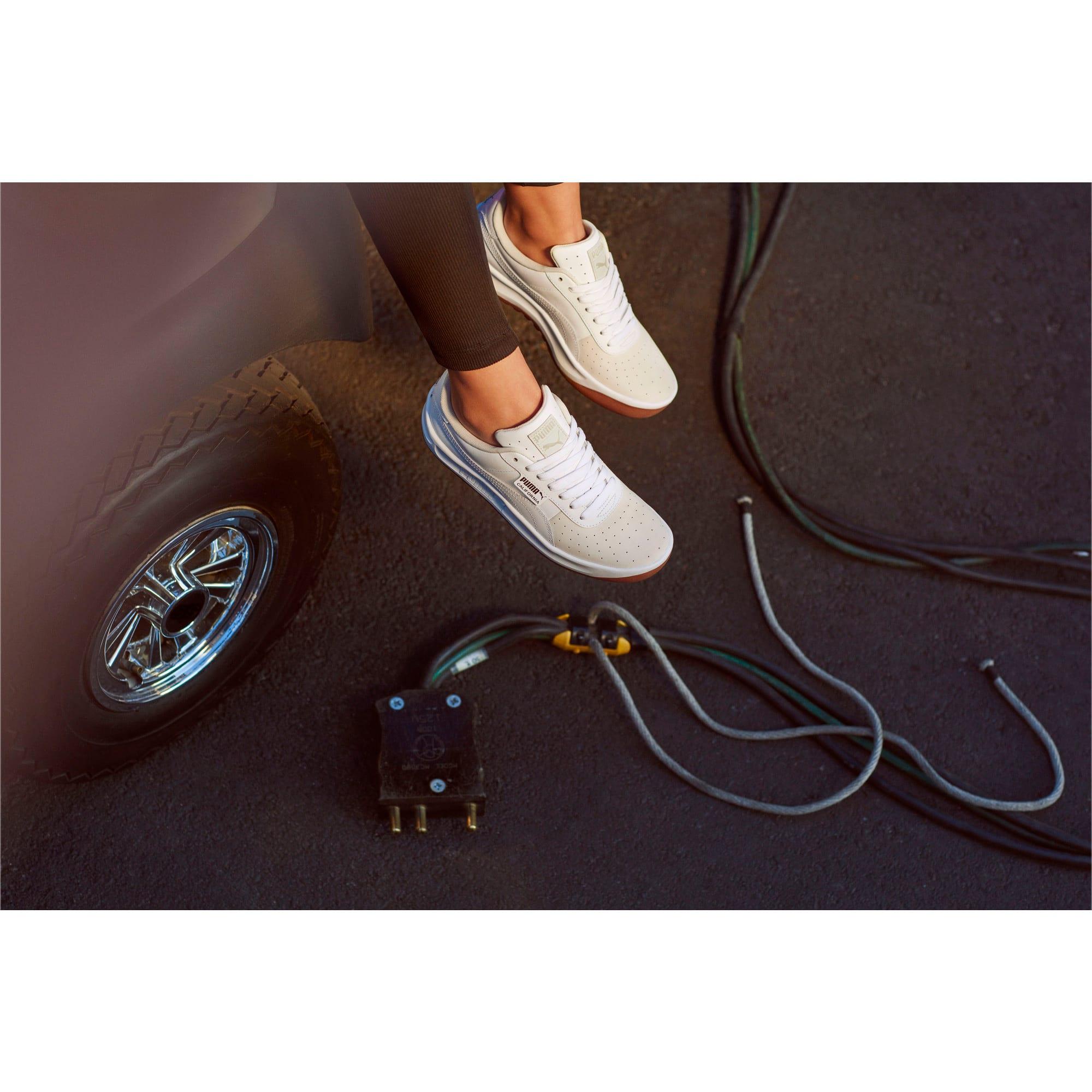 Thumbnail 6 of California Exotic Women's Sneakers, Whisper White- White- Gold, medium
