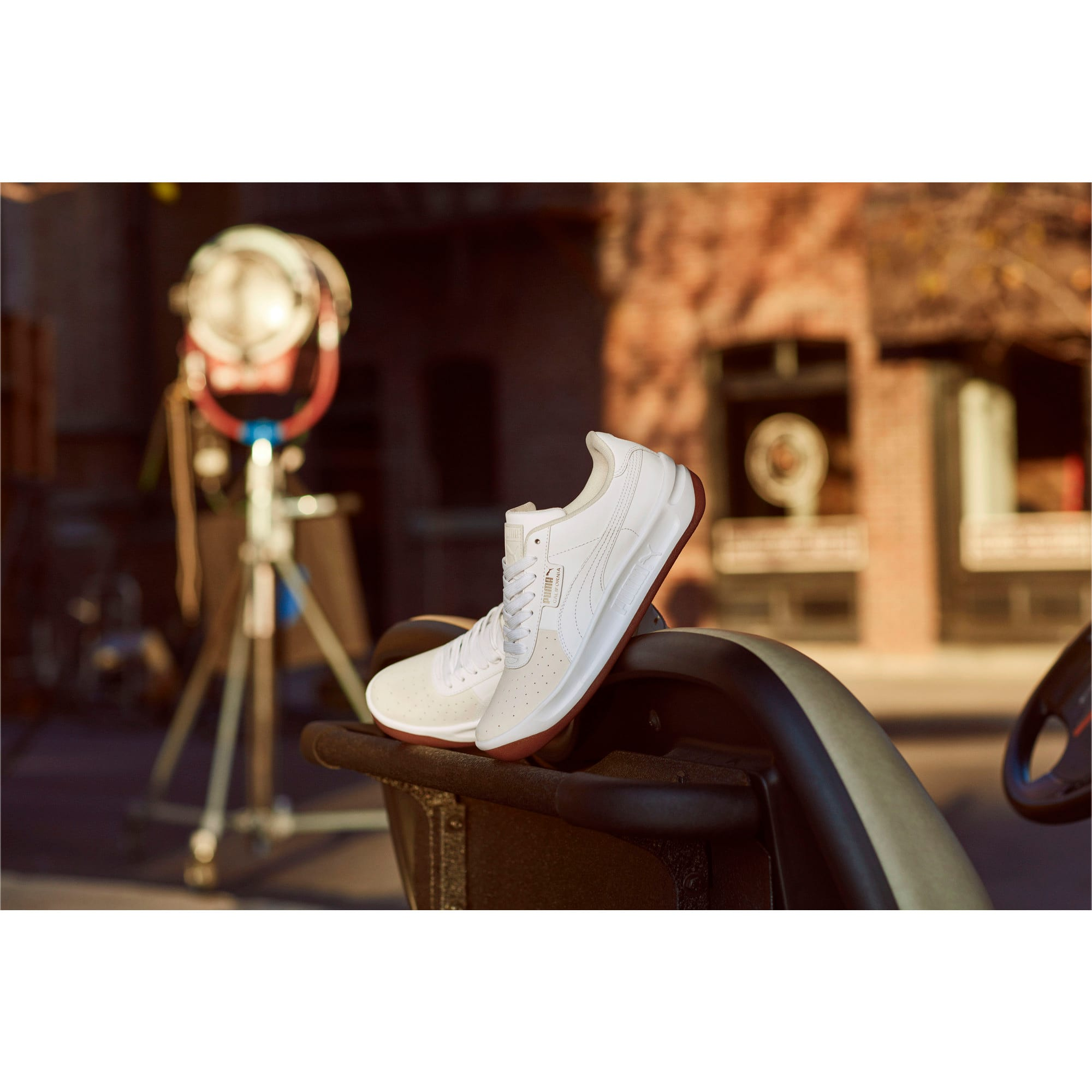 Thumbnail 7 of California Exotic Women's Sneakers, Whisper White- White- Gold, medium