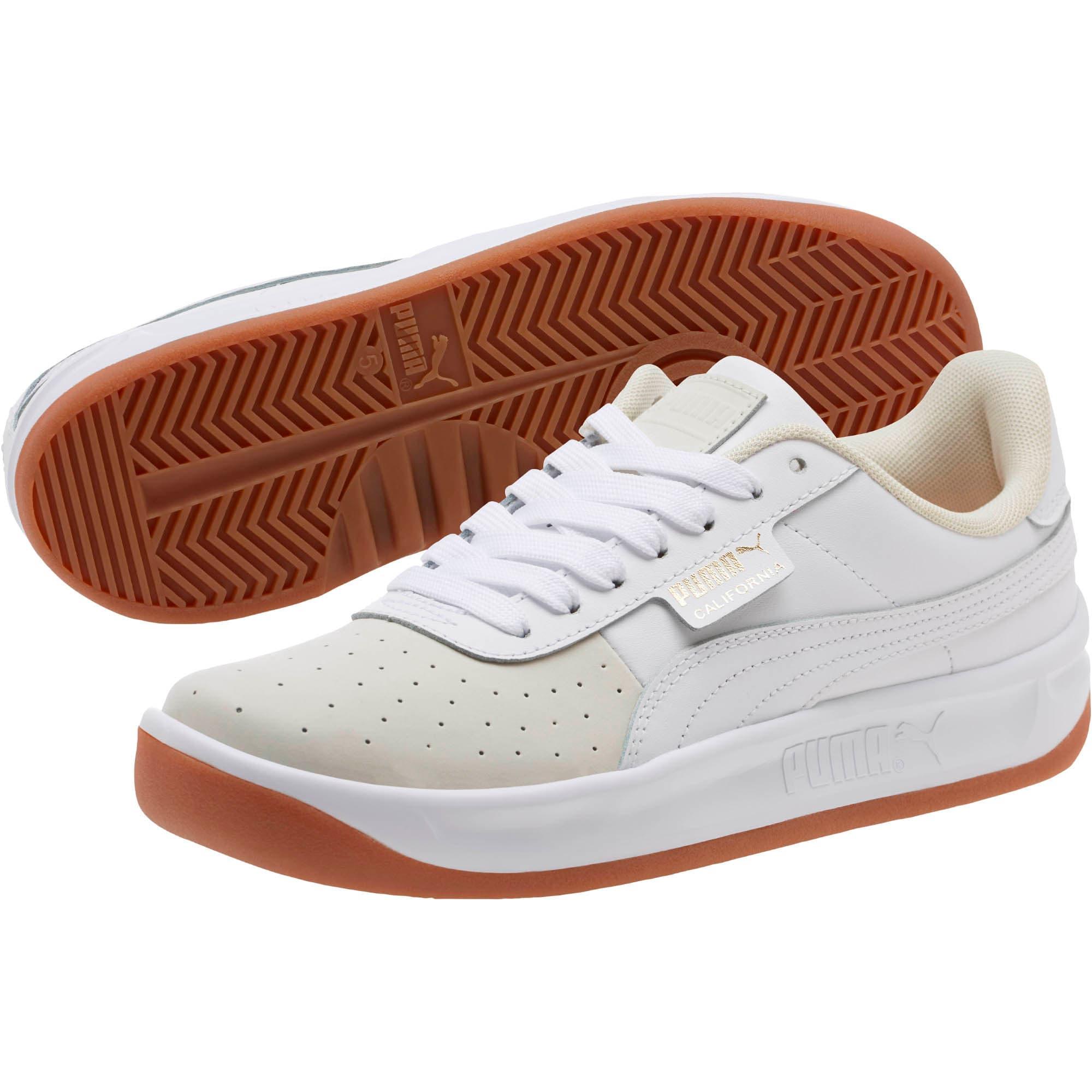 Thumbnail 2 of California Exotic Women's Sneakers, Whisper White- White- Gold, medium