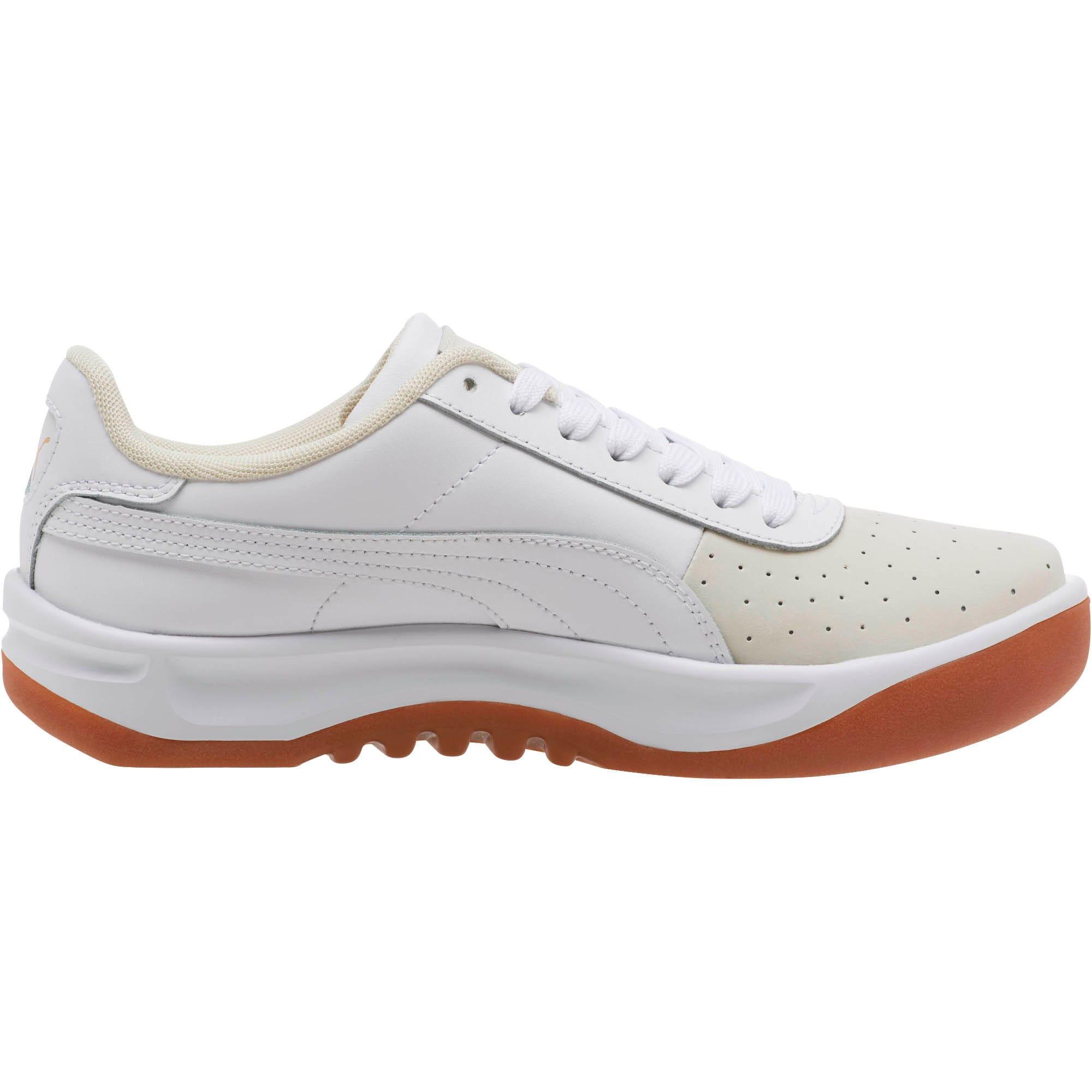Thumbnail 3 of California Exotic Women's Sneakers, Whisper White- White- Gold, medium