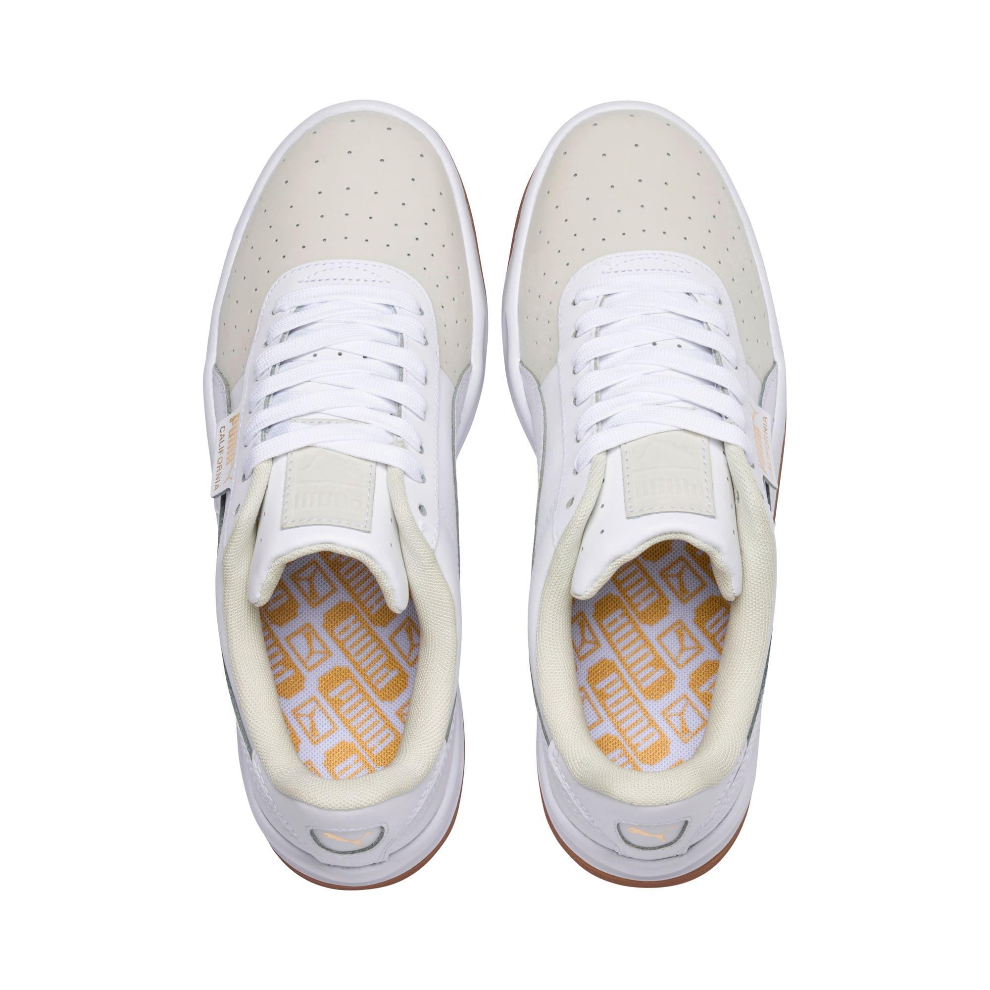 Thumbnail 8 of California Exotic Women's Sneakers, Whisper White- White- Gold, medium