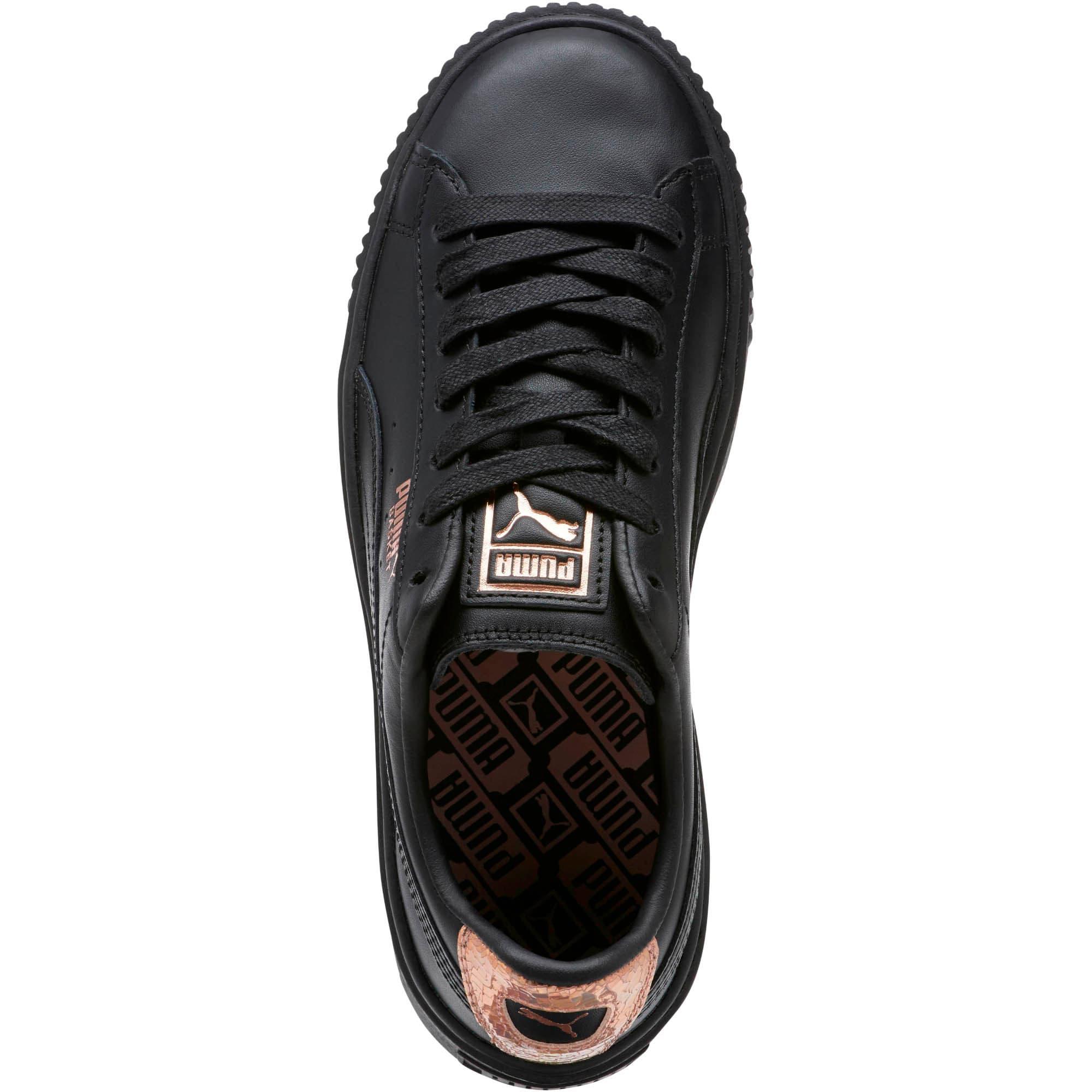 Thumbnail 5 of Basket Platform RG Women's Sneakers, Puma Black-Rose Gold, medium