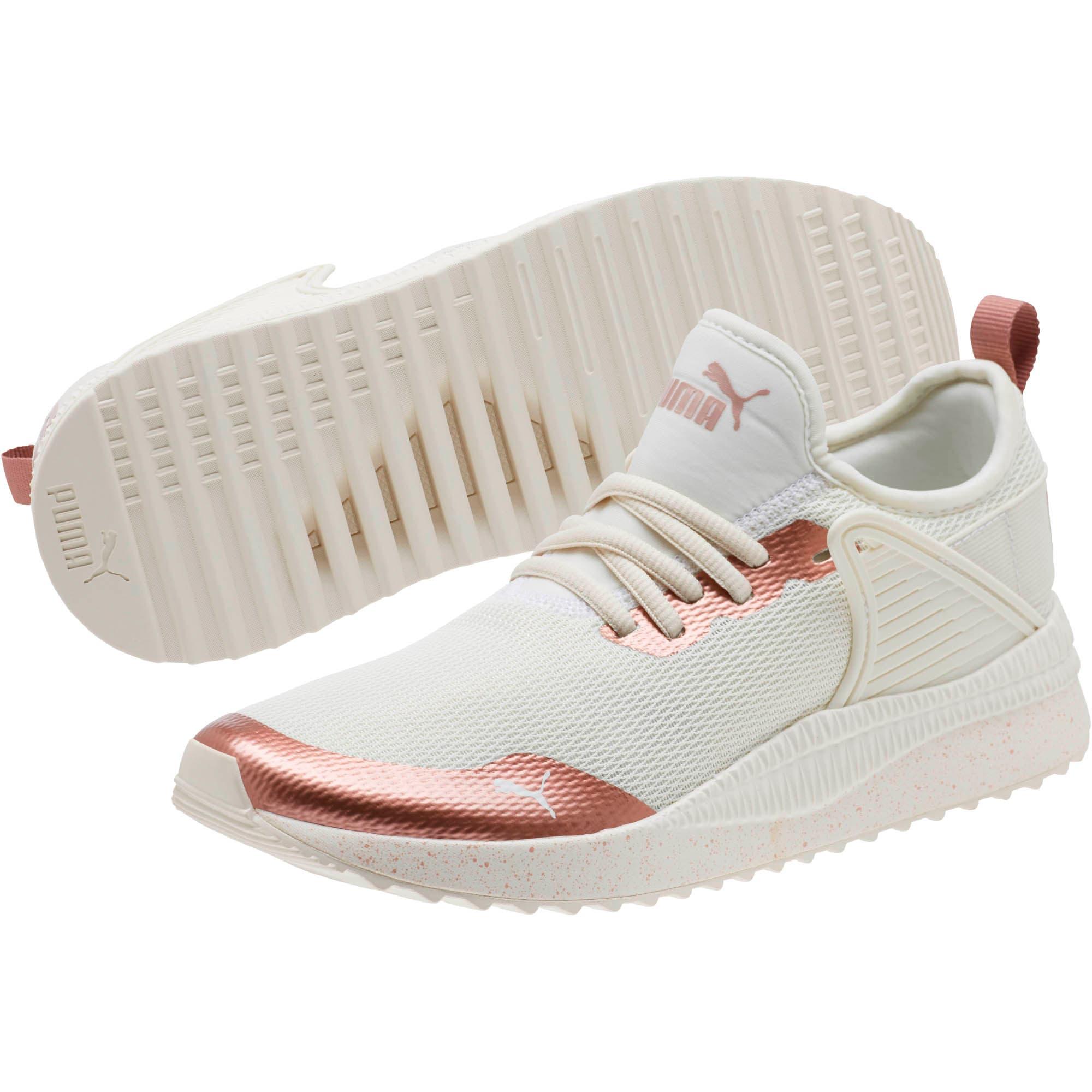 Thumbnail 2 of Pacer Nex tCage Metallic Speckle Women's Sneakers, Whisper White-Rose Gold, medium