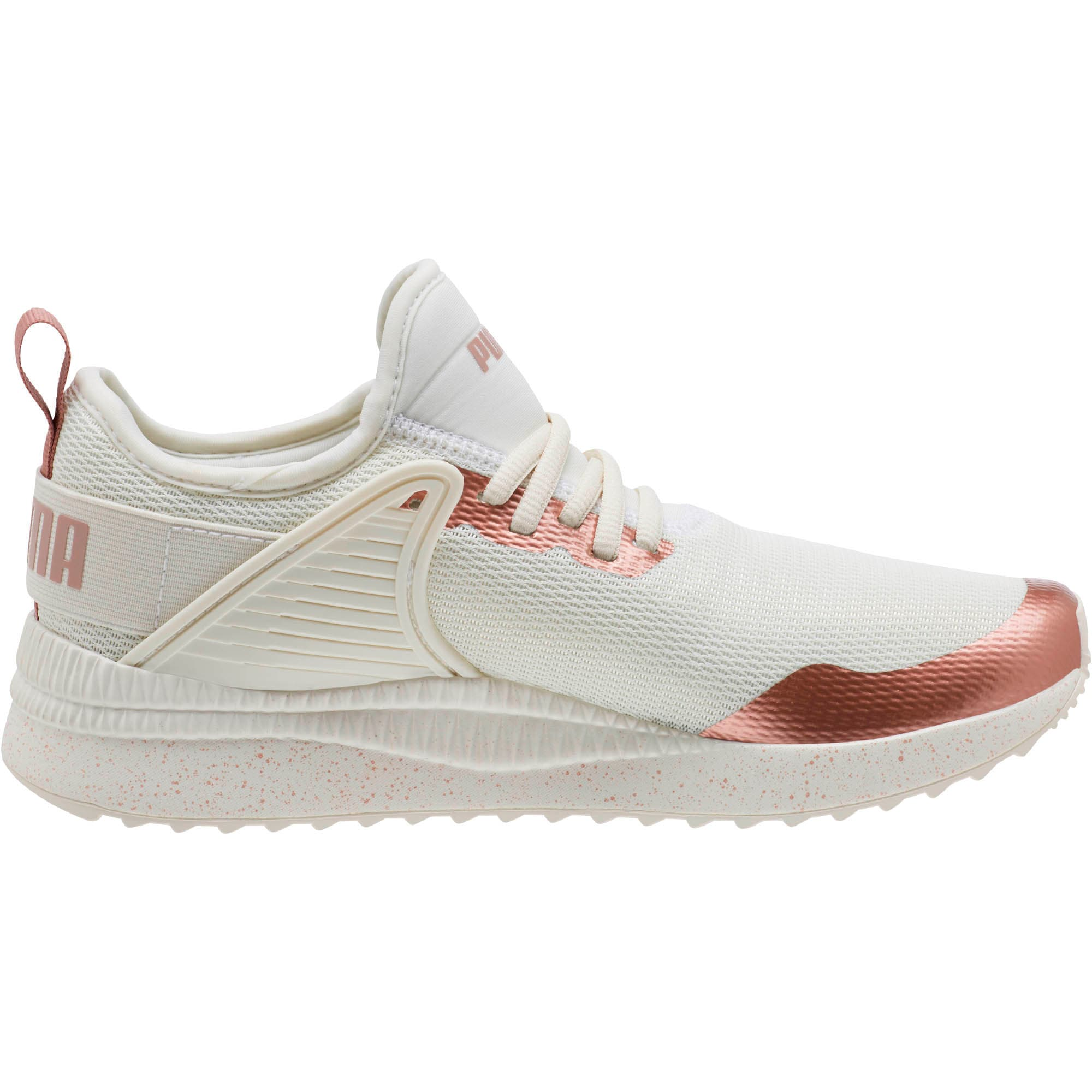 Thumbnail 3 of Pacer Nex tCage Metallic Speckle Women's Sneakers, Whisper White-Rose Gold, medium
