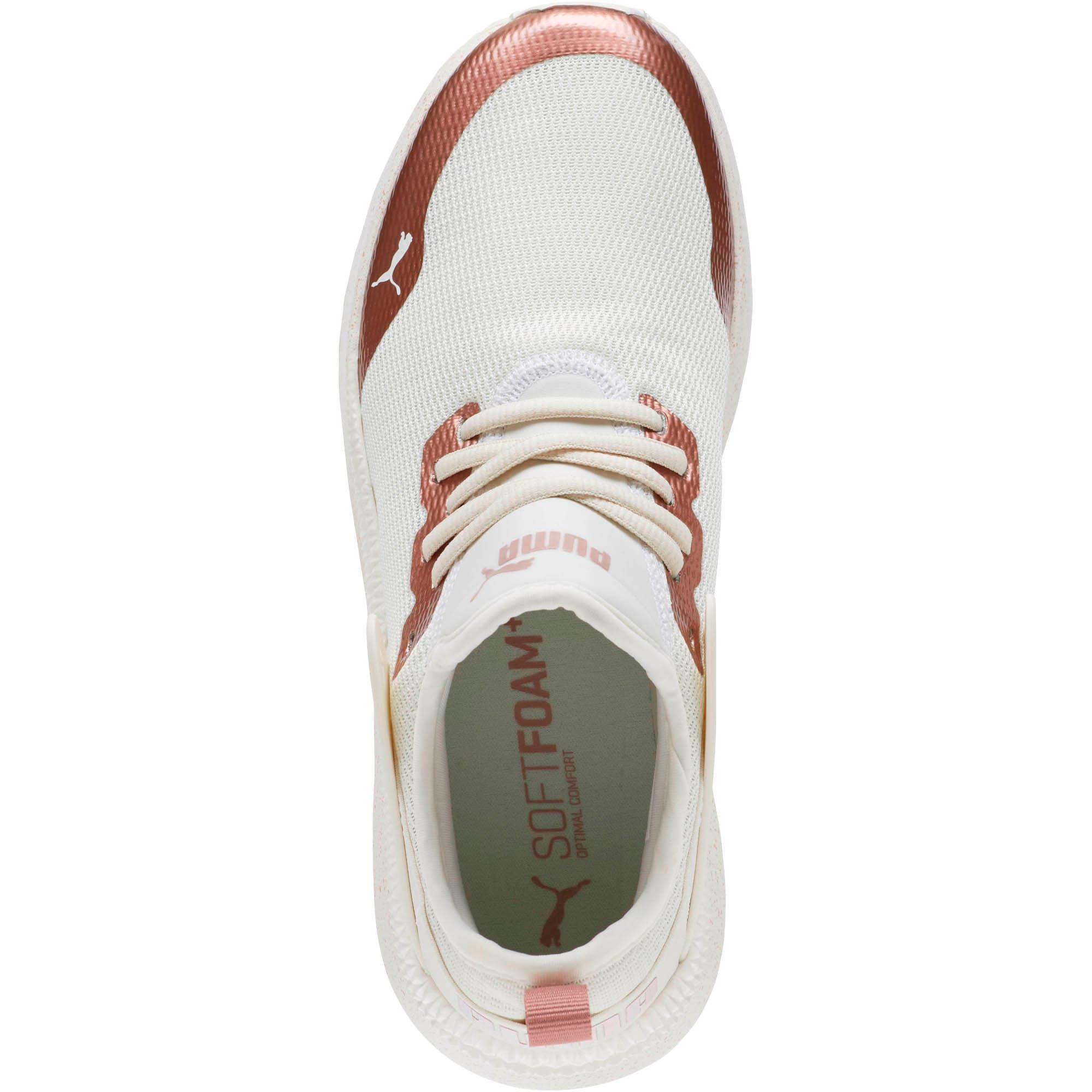 Thumbnail 5 of Pacer Nex tCage Metallic Speckle Women's Sneakers, Whisper White-Rose Gold, medium
