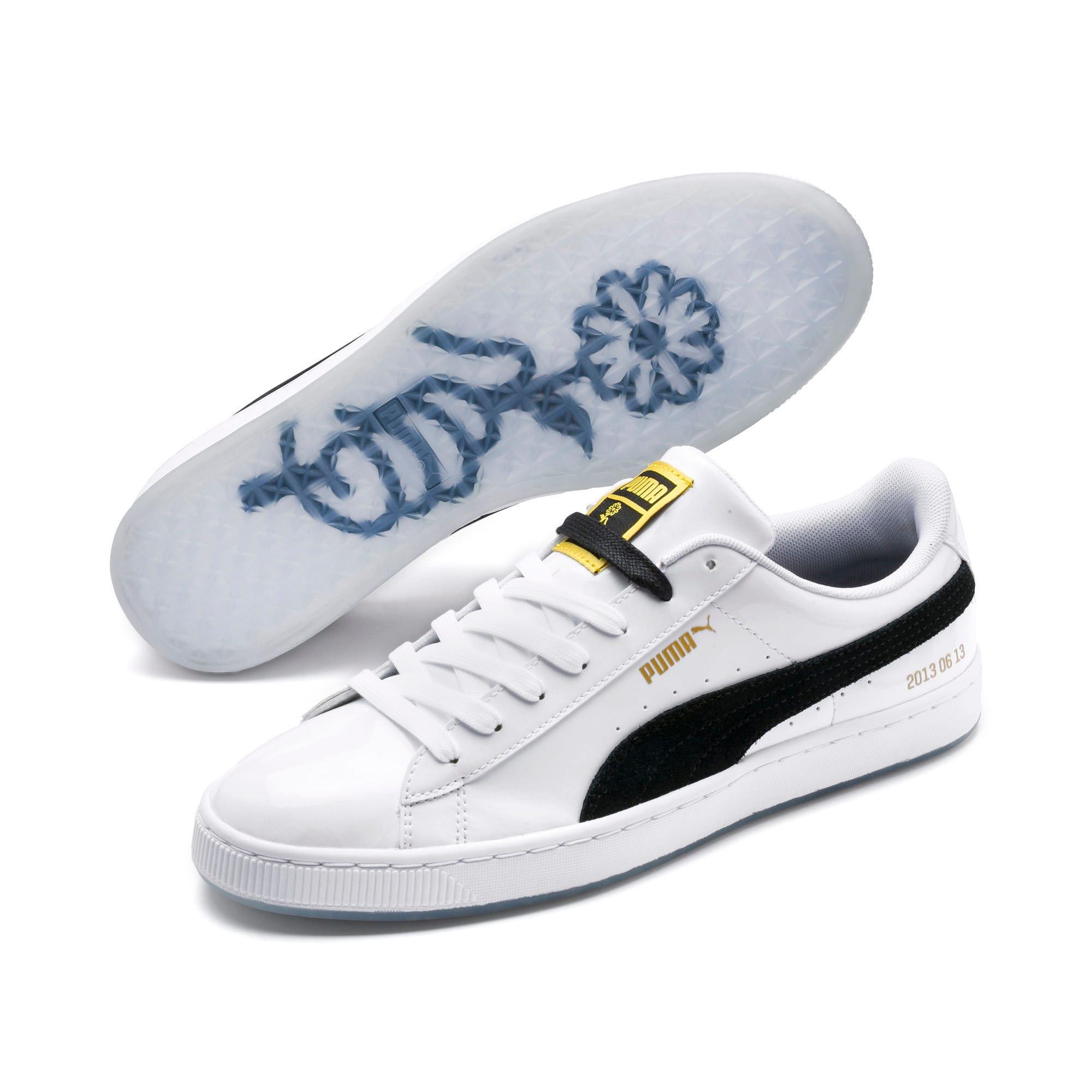 premium selection 64a83 1c828 PUMA x BTS Basket Patent Sneakers