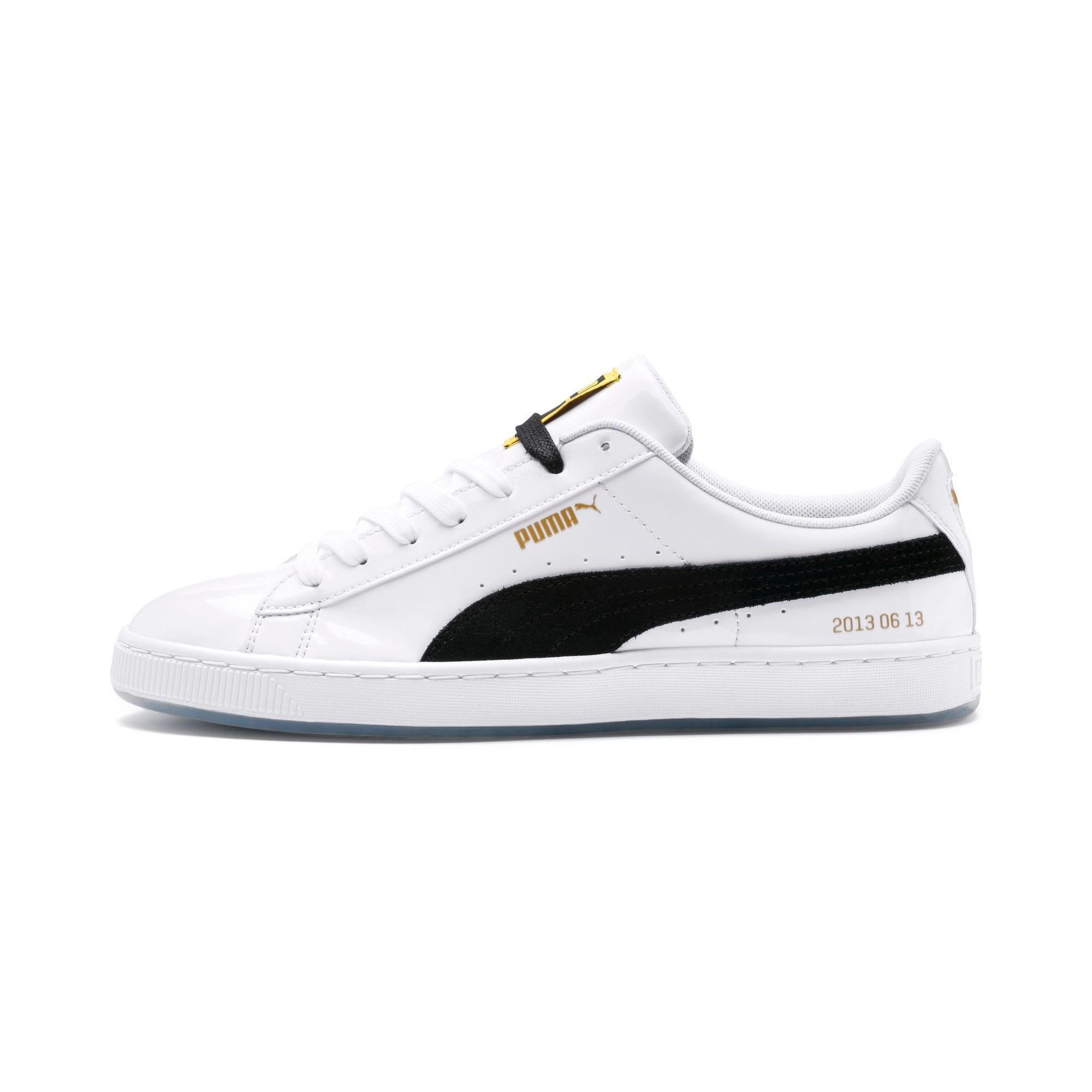 premium selection 2753d a3a66 PUMA x BTS Basket Patent Sneakers