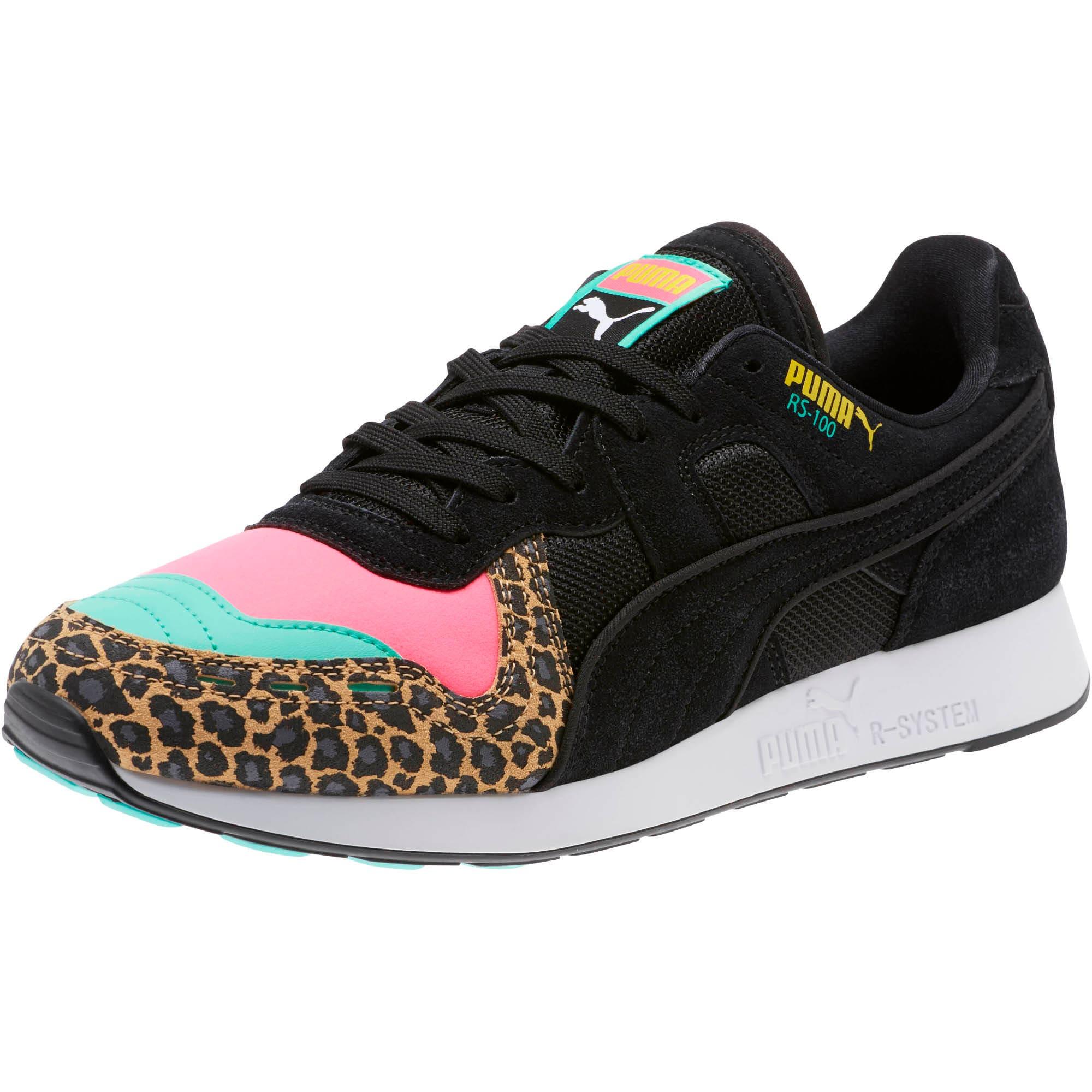 Thumbnail 1 of RS-100 Party Cheetah Sneakers, KNOCKOUT PINK-Puma Black, medium