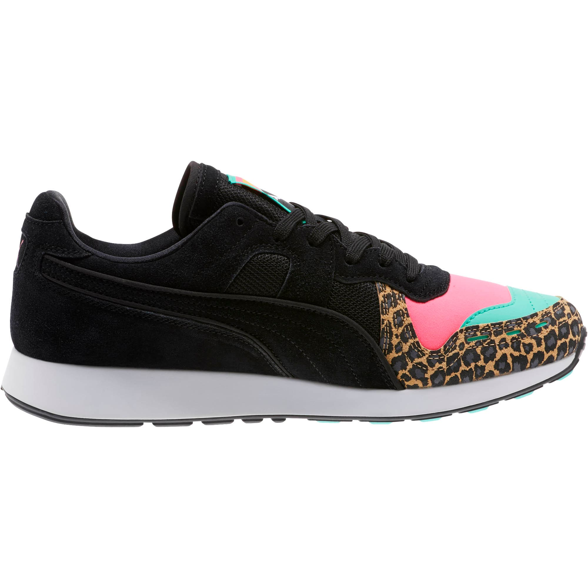 RS-100 Party Cheetah Sneakers, KNOCKOUT PINK-Puma Black, large
