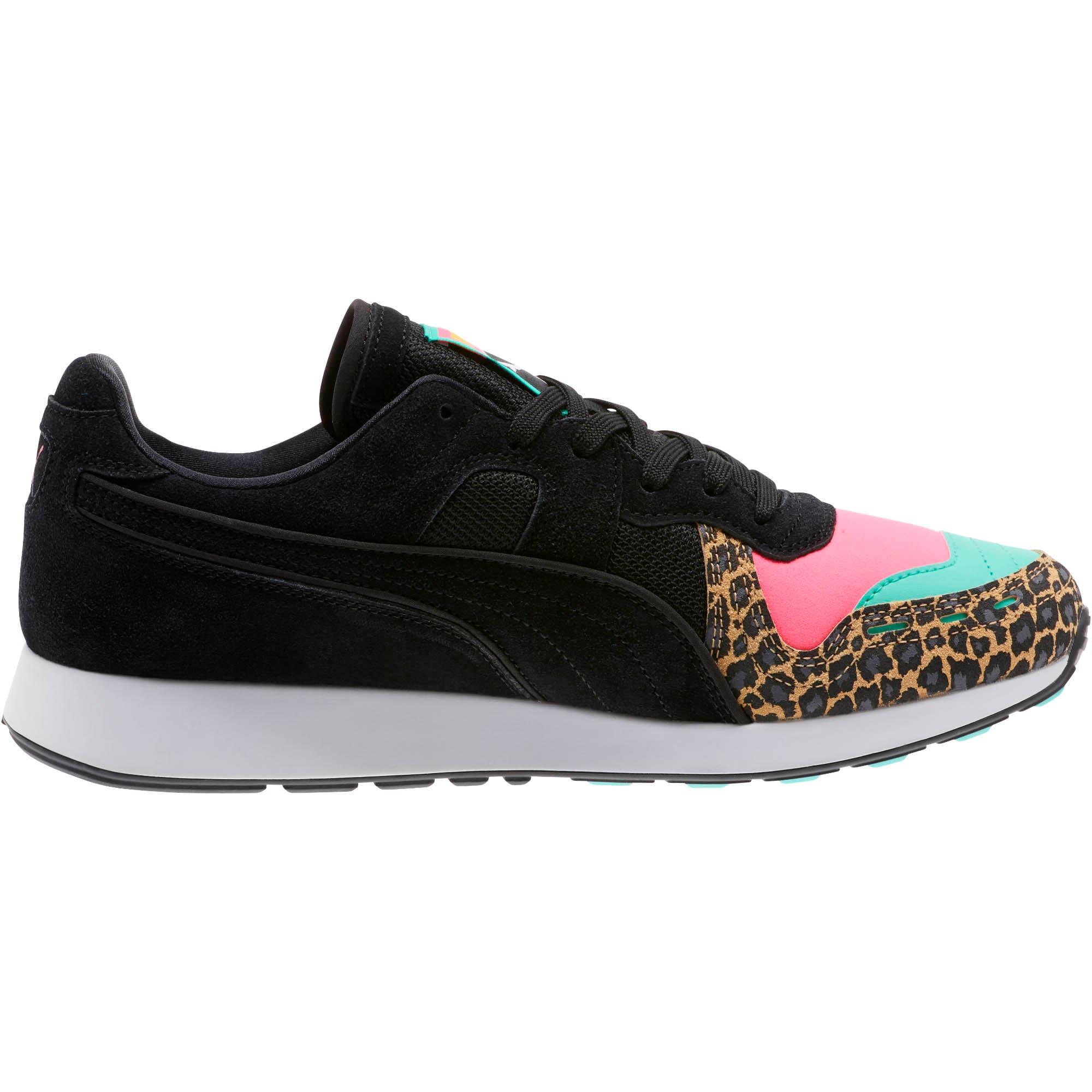 Thumbnail 3 of RS-100 Party Cheetah Sneakers, KNOCKOUT PINK-Puma Black, medium
