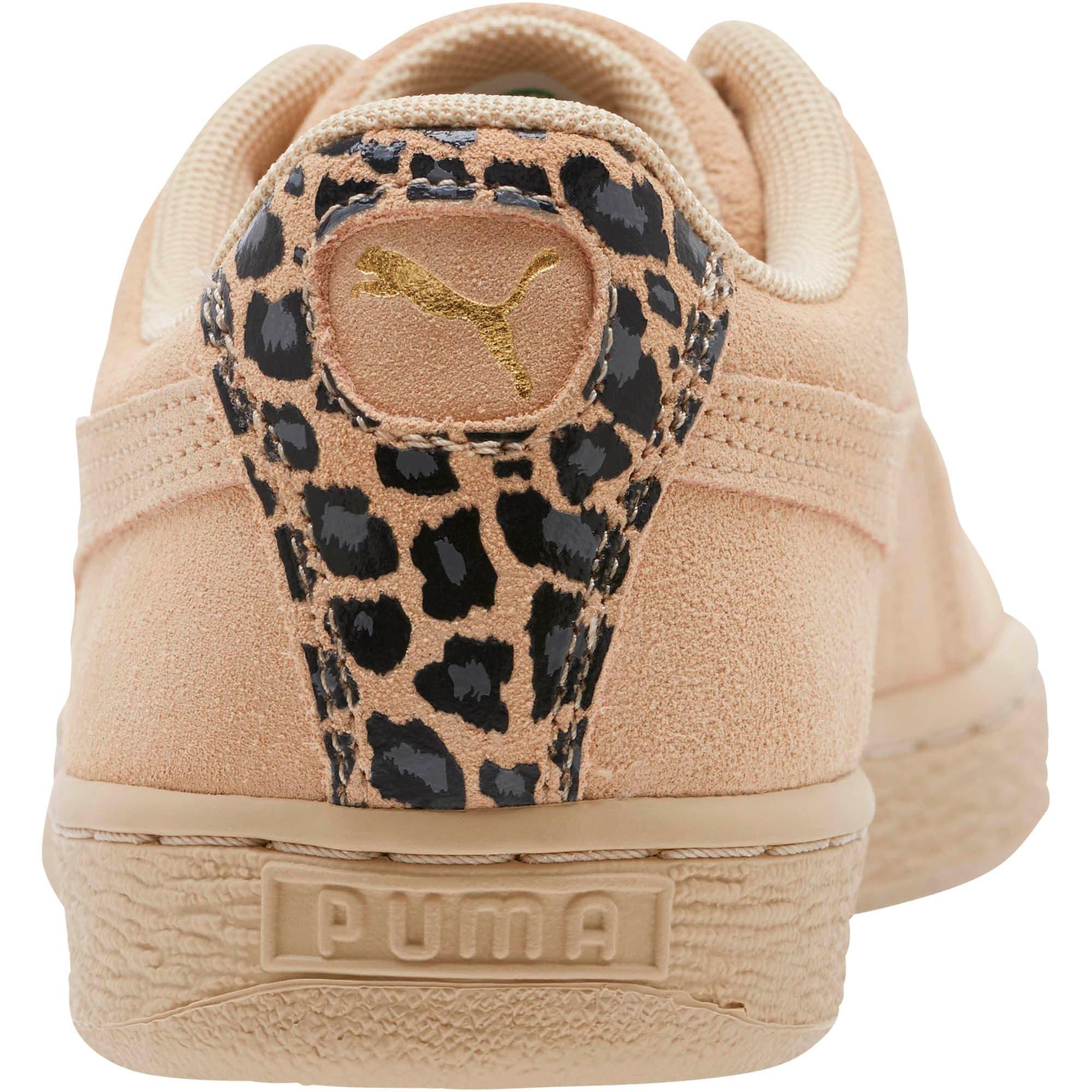 Thumbnail 4 of Suede Wild Women's Sneakers, Pebble- Gold-Puma Black, medium