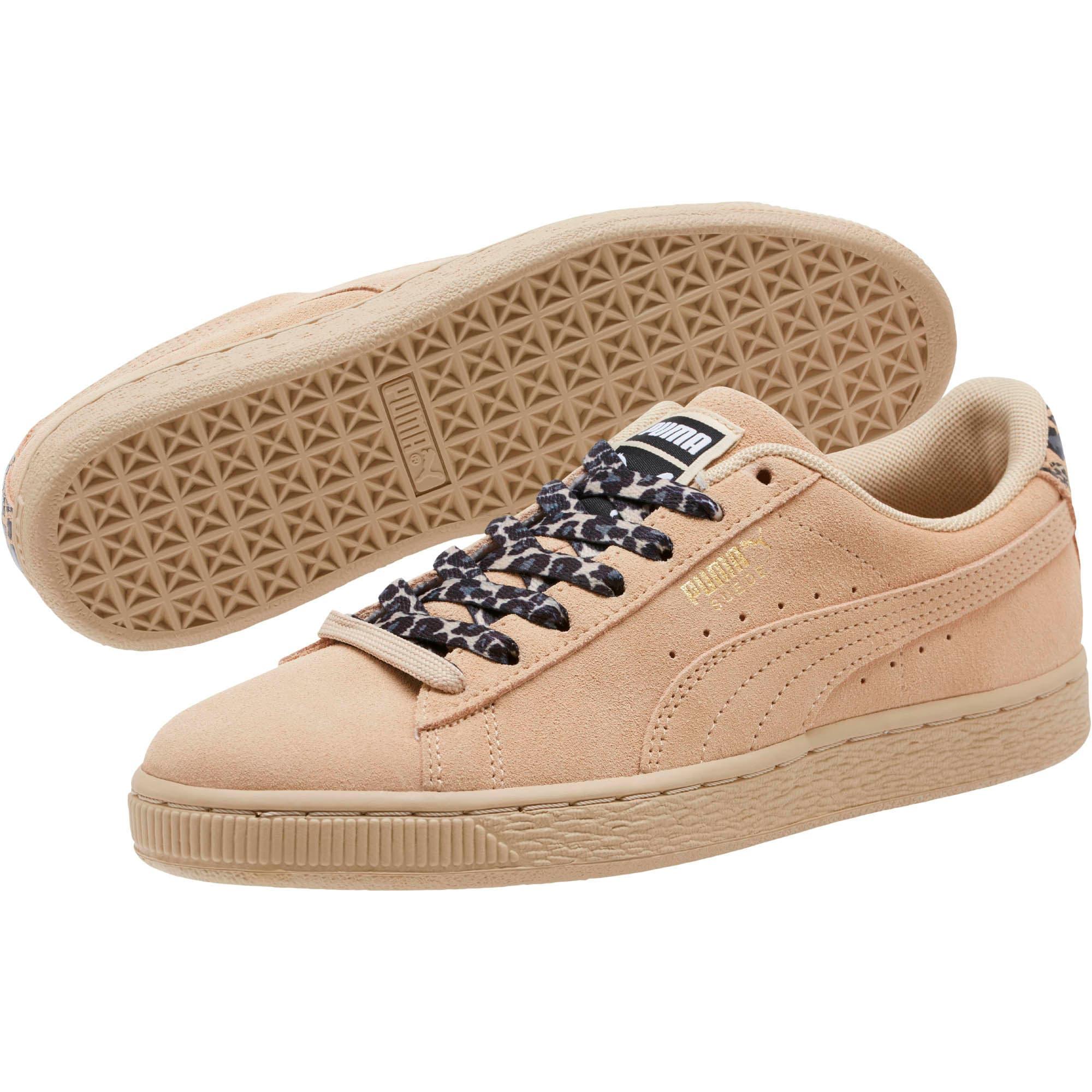 Thumbnail 2 of Suede Wild Women's Sneakers, Pebble- Gold-Puma Black, medium