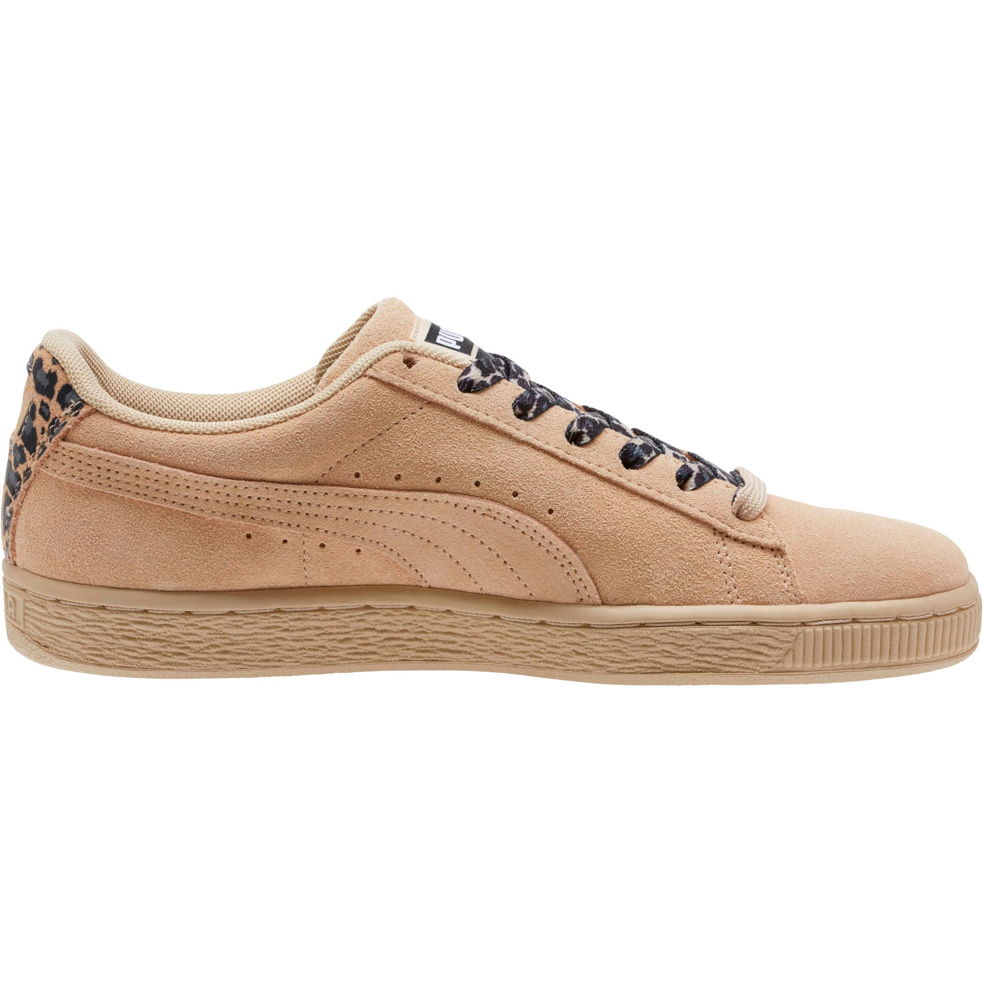Thumbnail 3 of Suede Wild Women's Sneakers, Pebble- Gold-Puma Black, medium